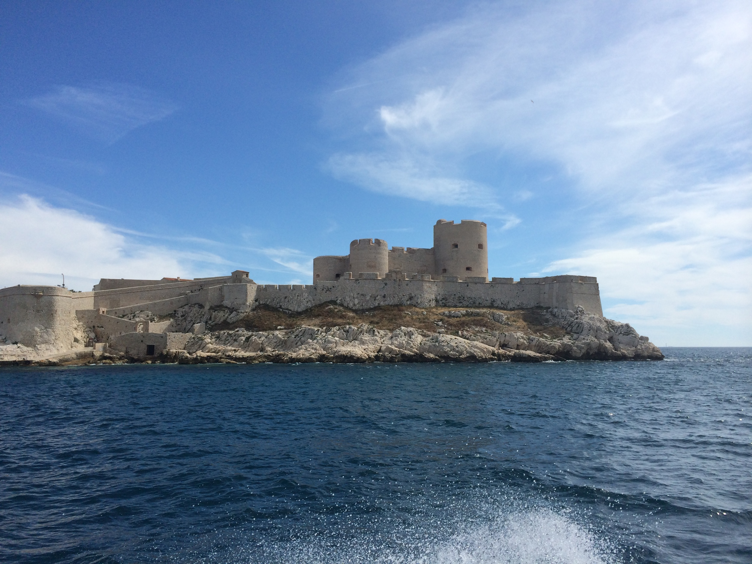 View of the fortress island from a distance. There's really not much to it.
