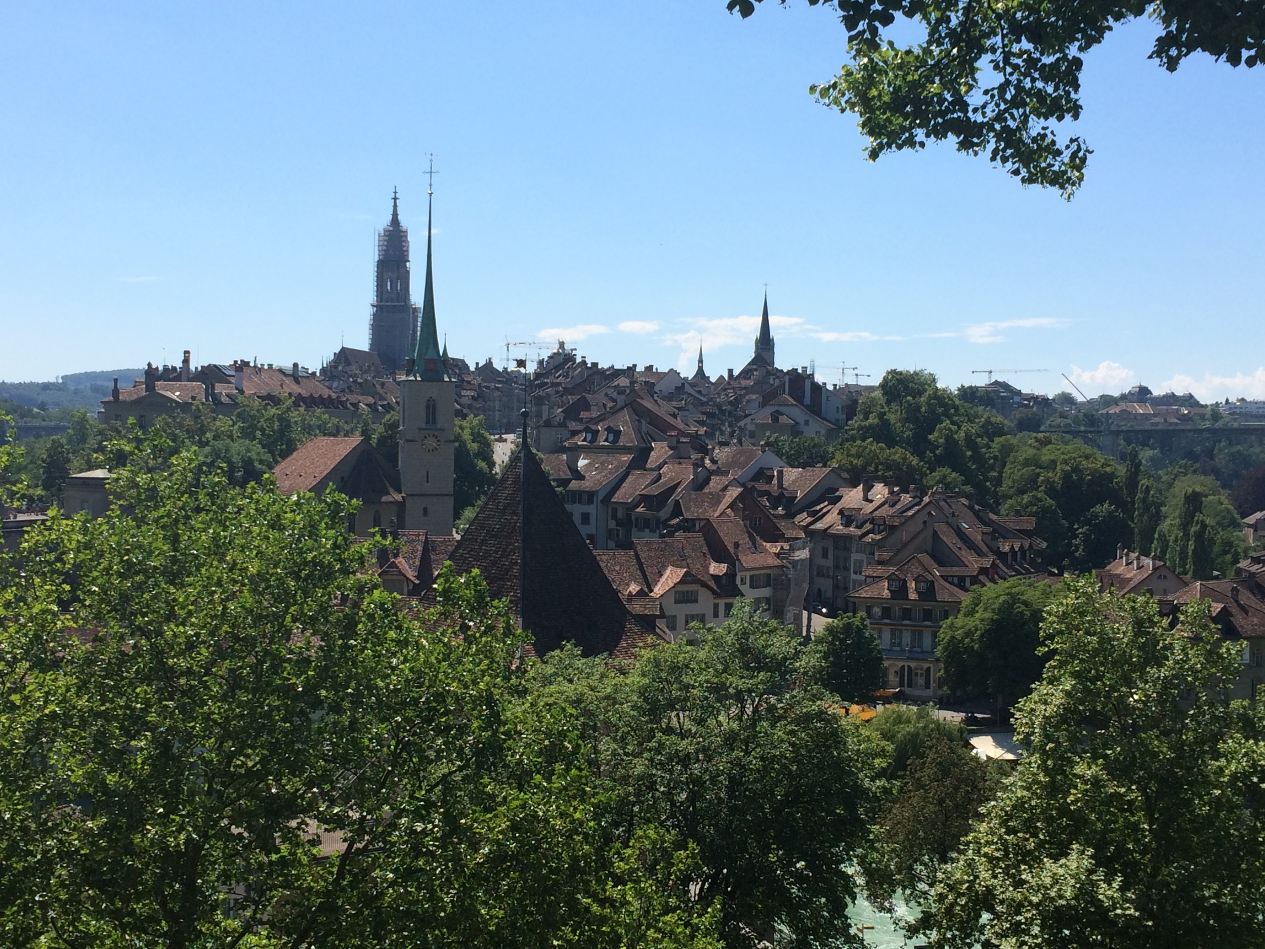 View of Bern from my walk up to visit the Rose Garden.