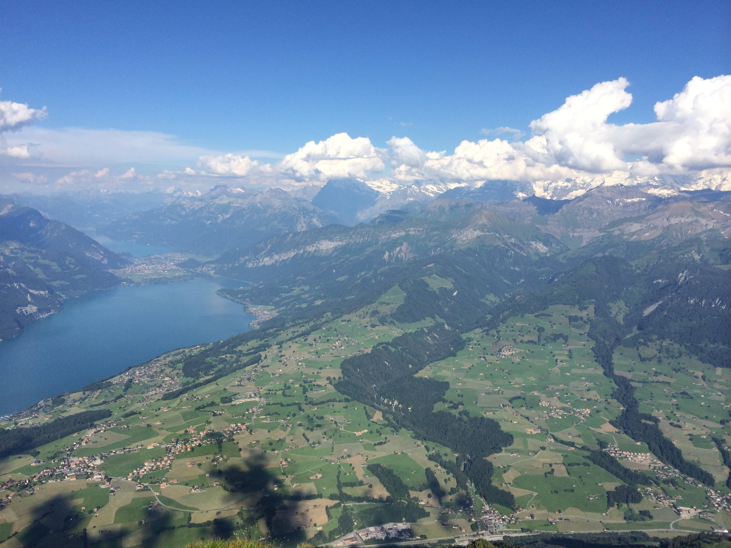 View from the top of Niesen Mountain. interlaken is on the left.