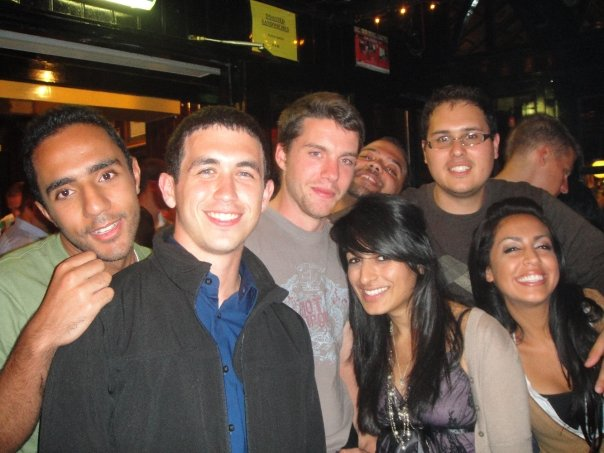 """Taken from Temple Bar five years ago. The """"crazy"""" Australian traveler is in the center. (August 2009)"""