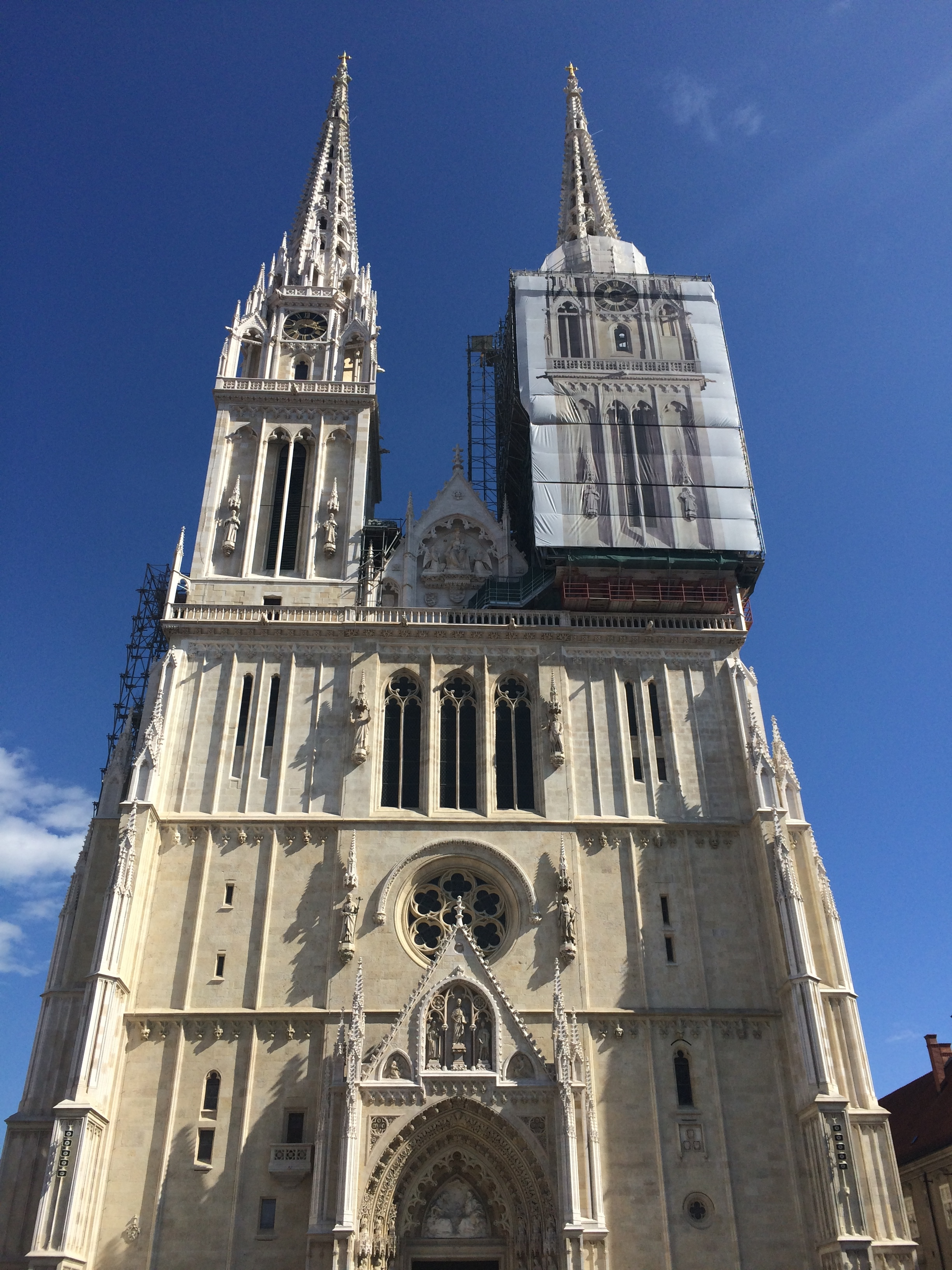 Zagreb Cathedral. It seems every cathedral I cross these days is under construction.