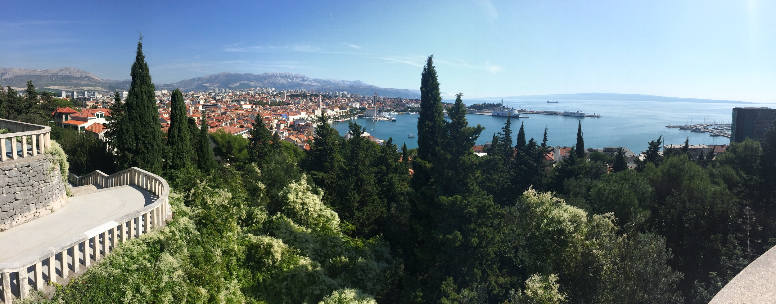 View of Split from the top of
