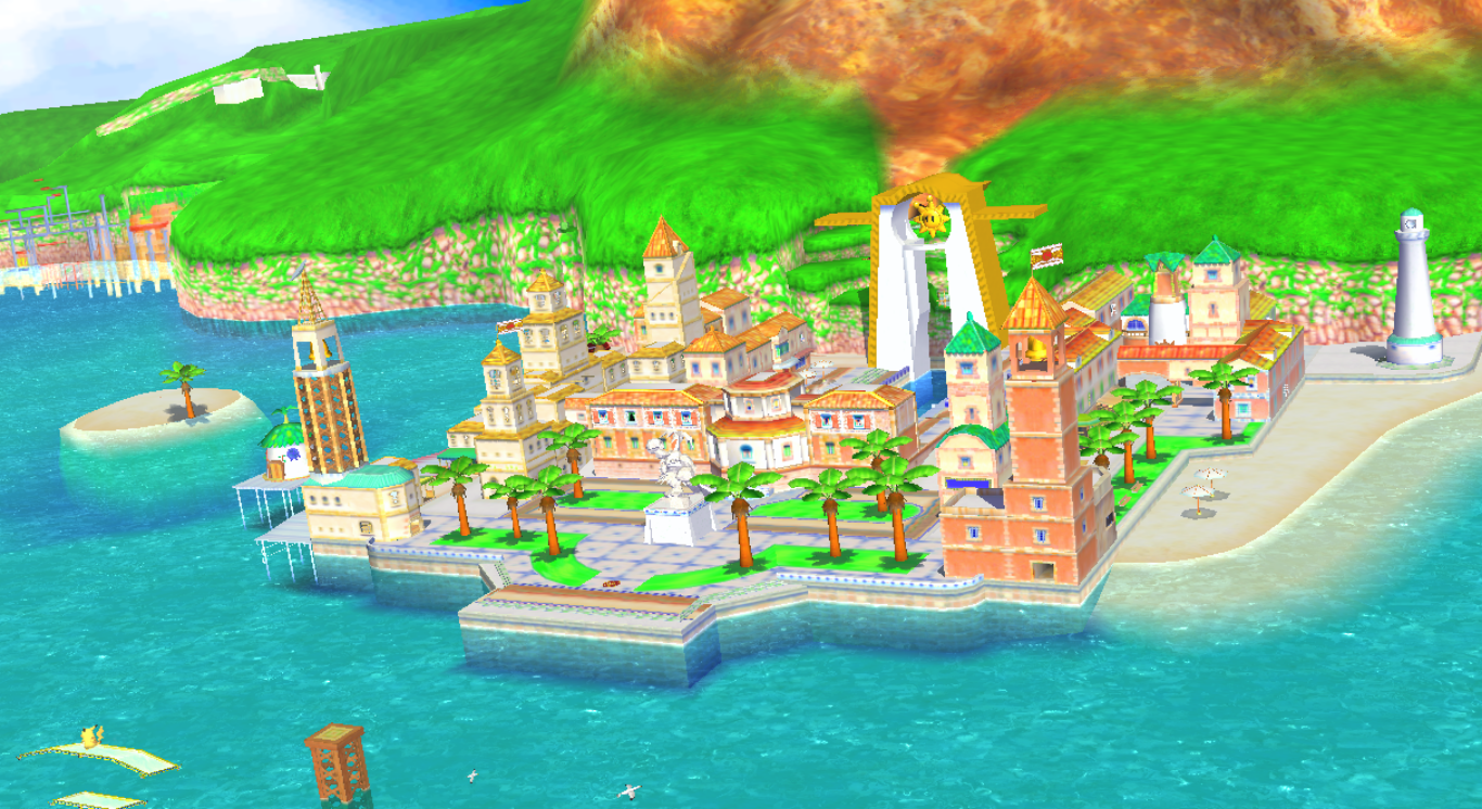 This is the fictional city of Delfino Plaza which I swear is modeled after Hvar Town, Croatia.