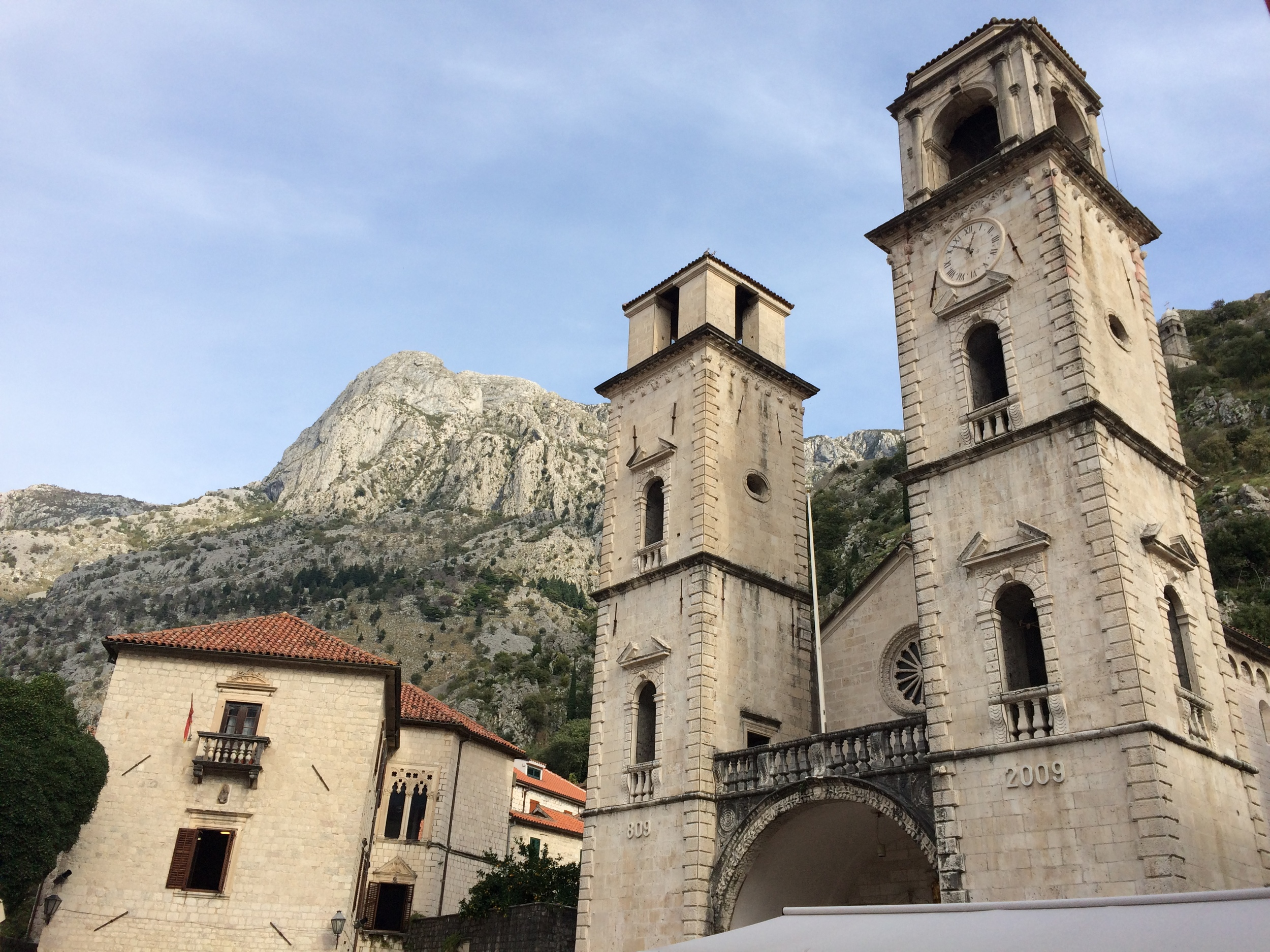 Kotor Cathedral in the center of the old town.