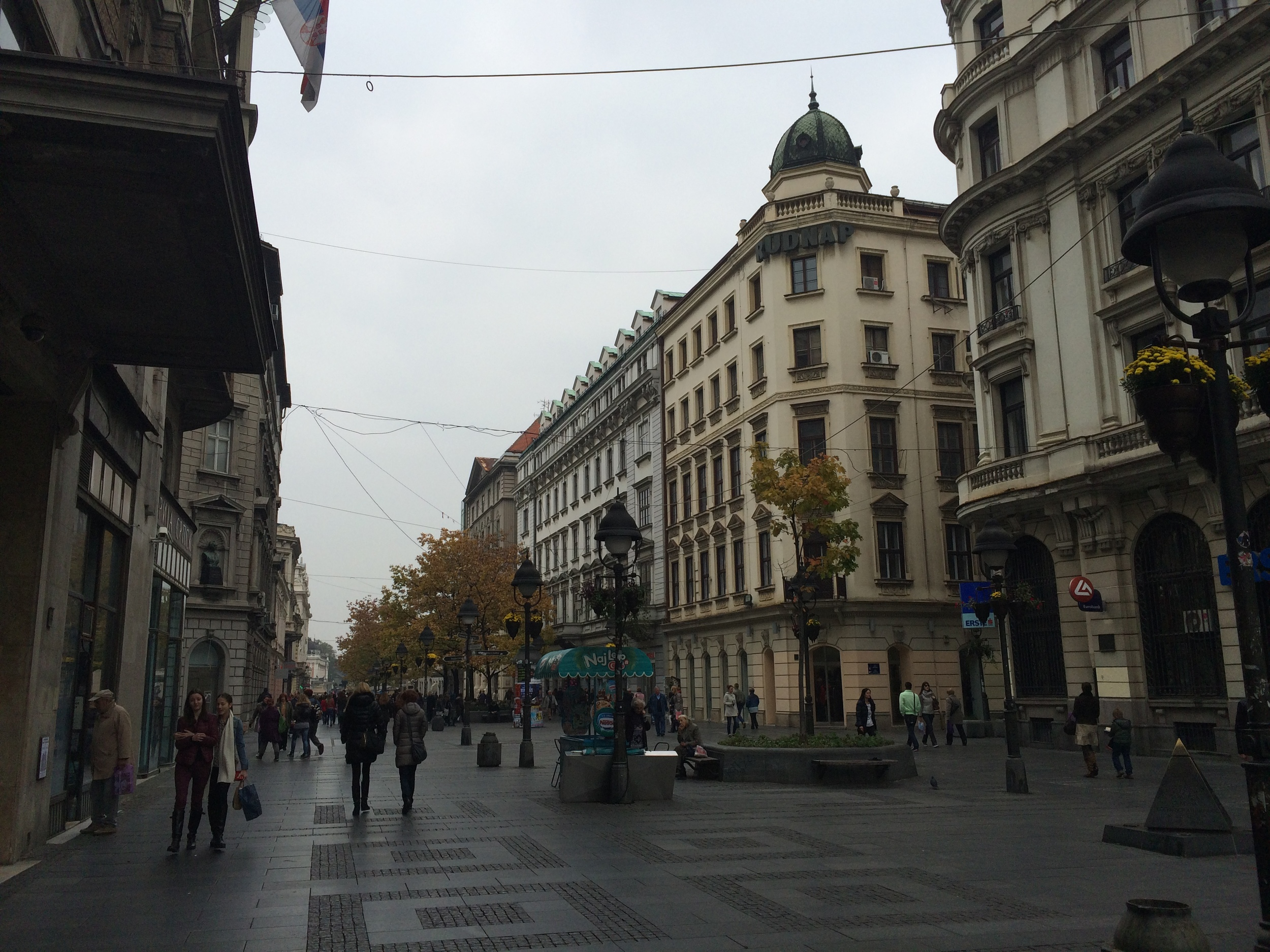 The main promenade,  Knez Mihailova,  in Belgrade.