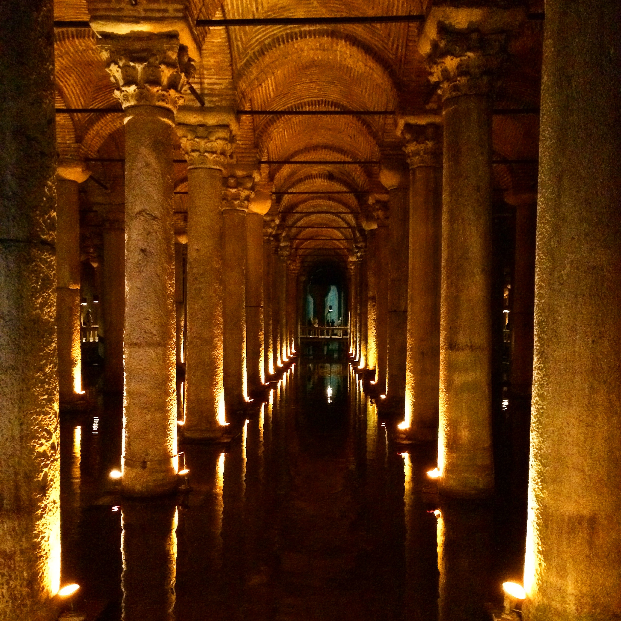 The Basilica Cistern kinda like the bus station on cleaner and nicer.