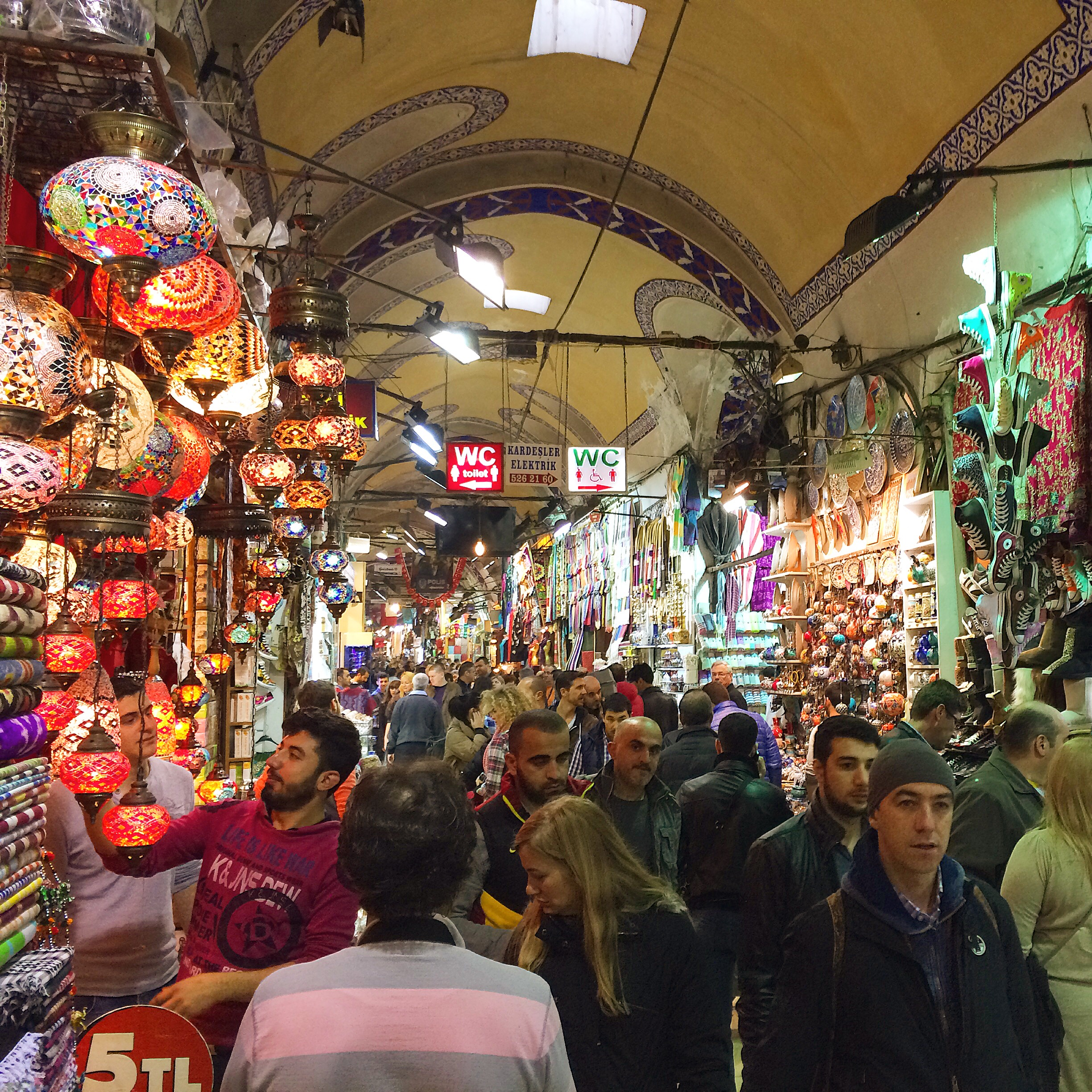 The perpetual chaos of the Grand Bazaar in Istanbul.