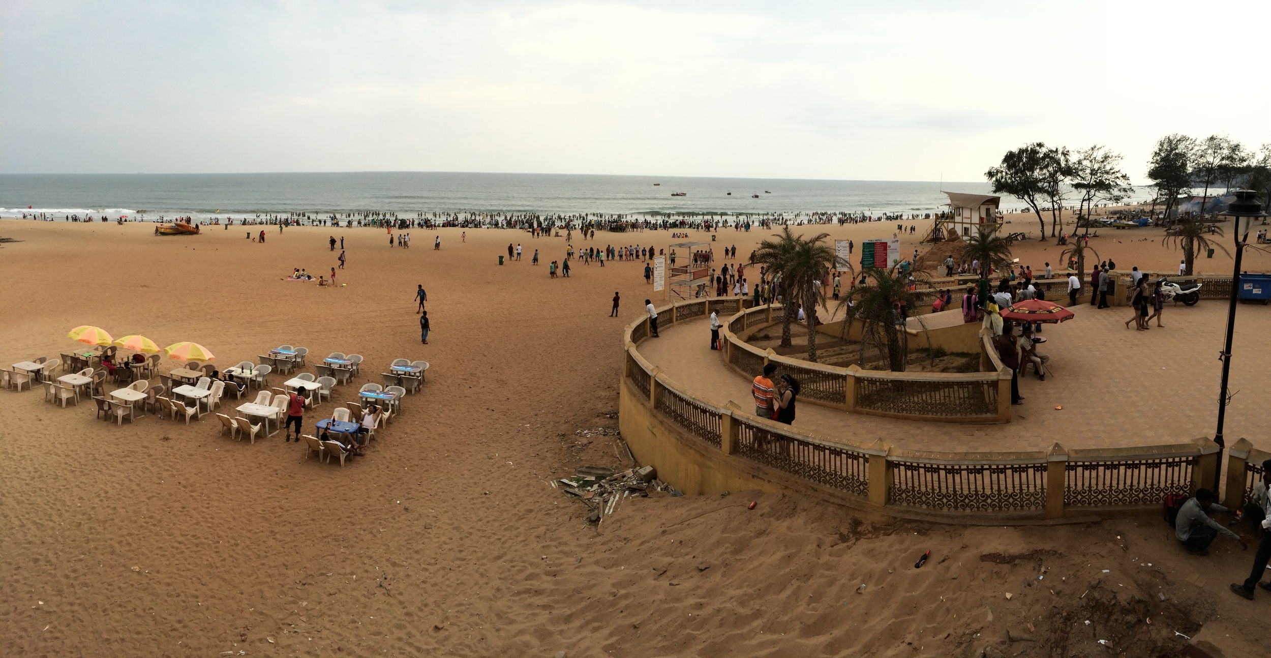 My view of Calangute Beach this afternoon.