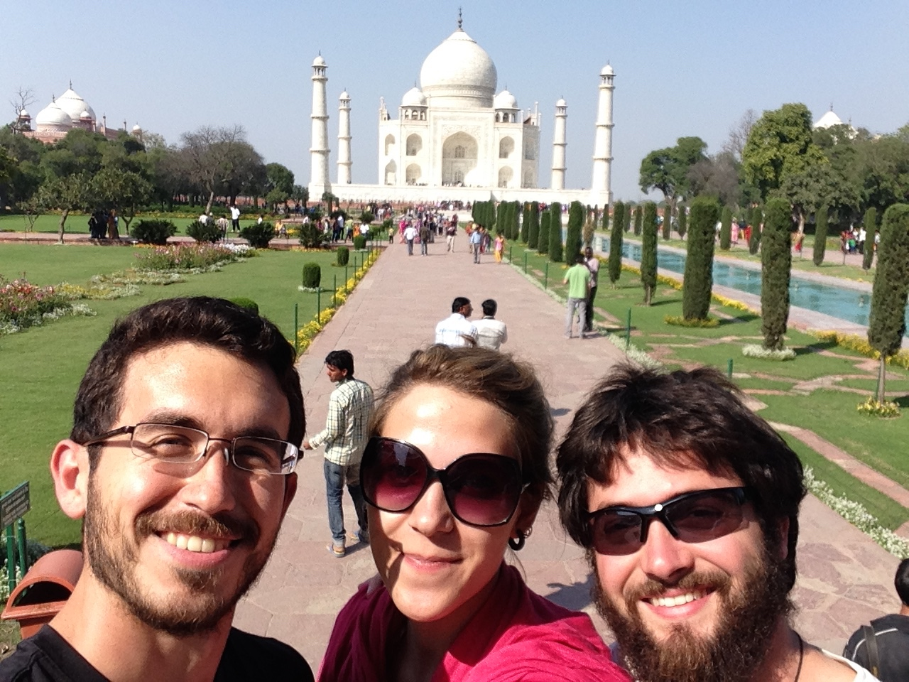 Visit to the Taj Mahal with friends, Chan Tal and Kevin!