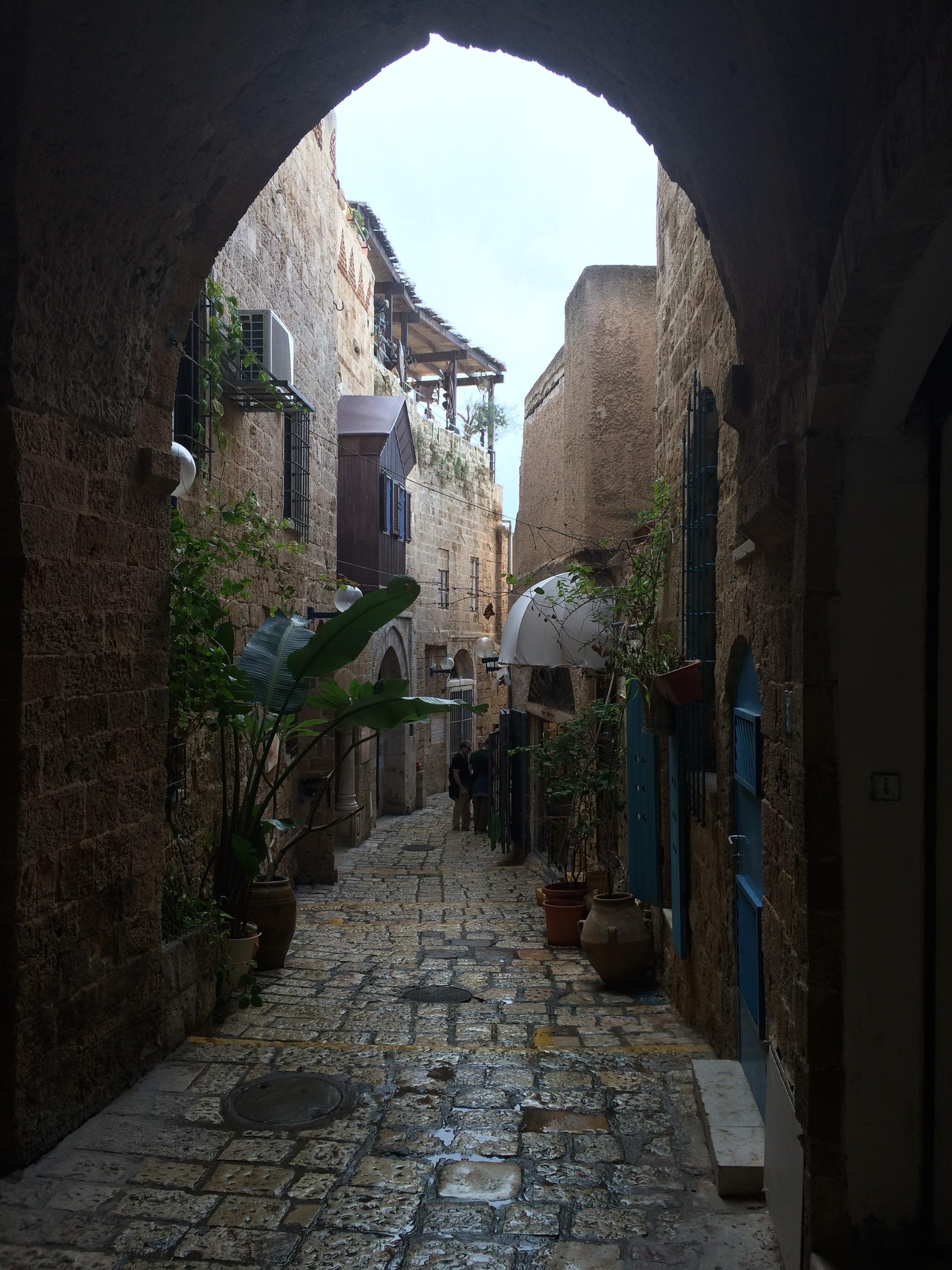 The old city streets of Jaffa in Tel Aviv.