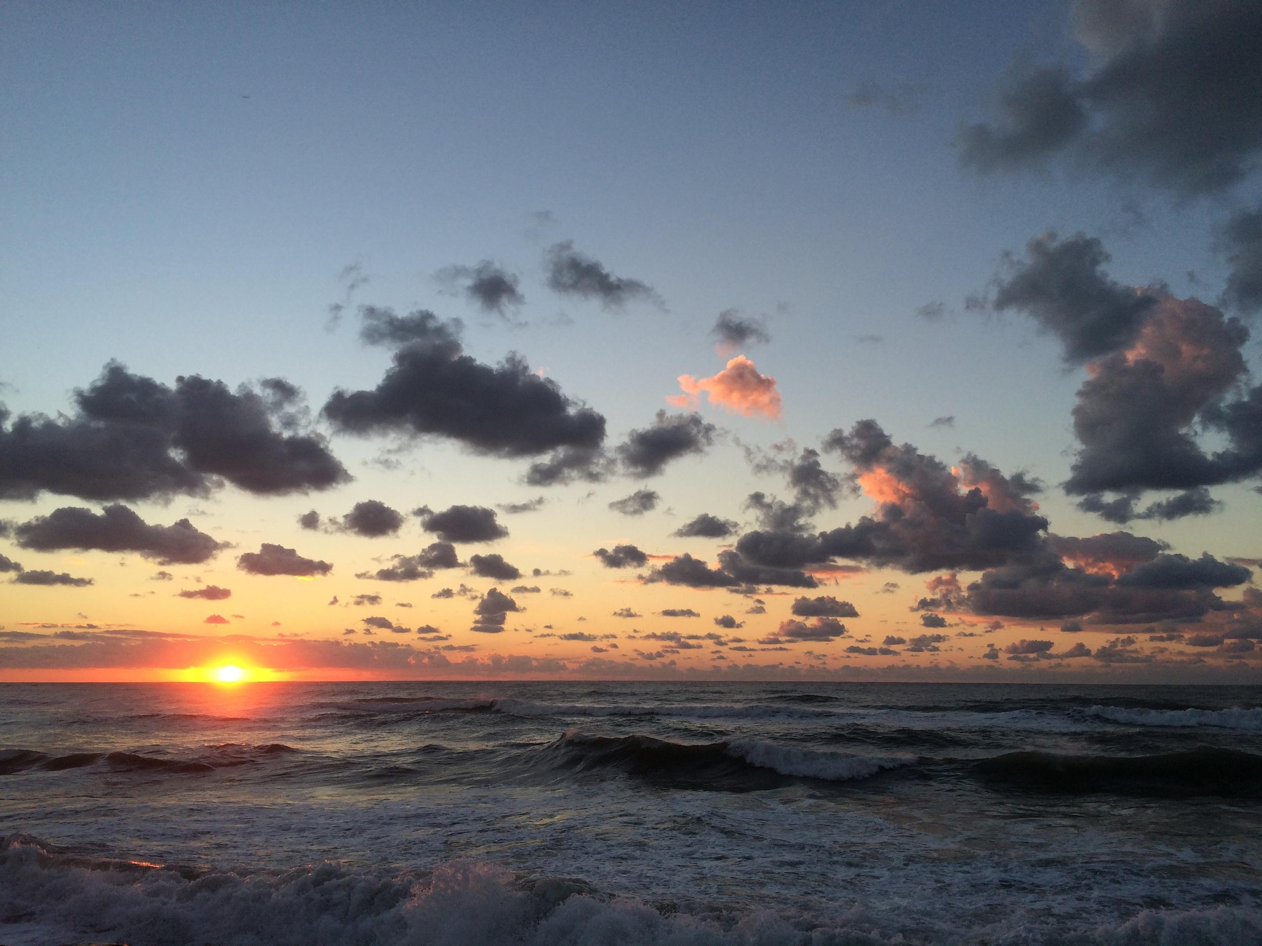 Sunsets along the coast of Tel Aviv.