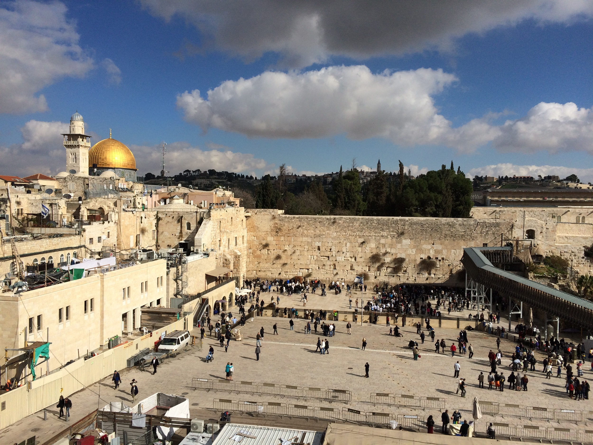 View of the famous Western Wall.