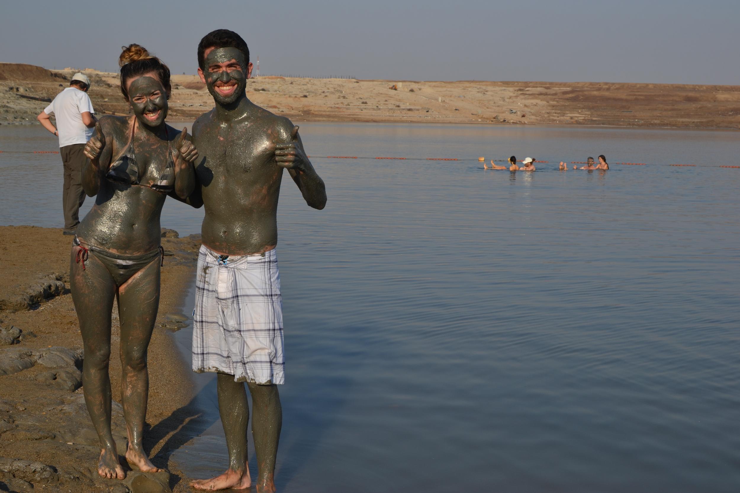 A little Dead Sea mud body scrub! Picture courtesy of Chloe.