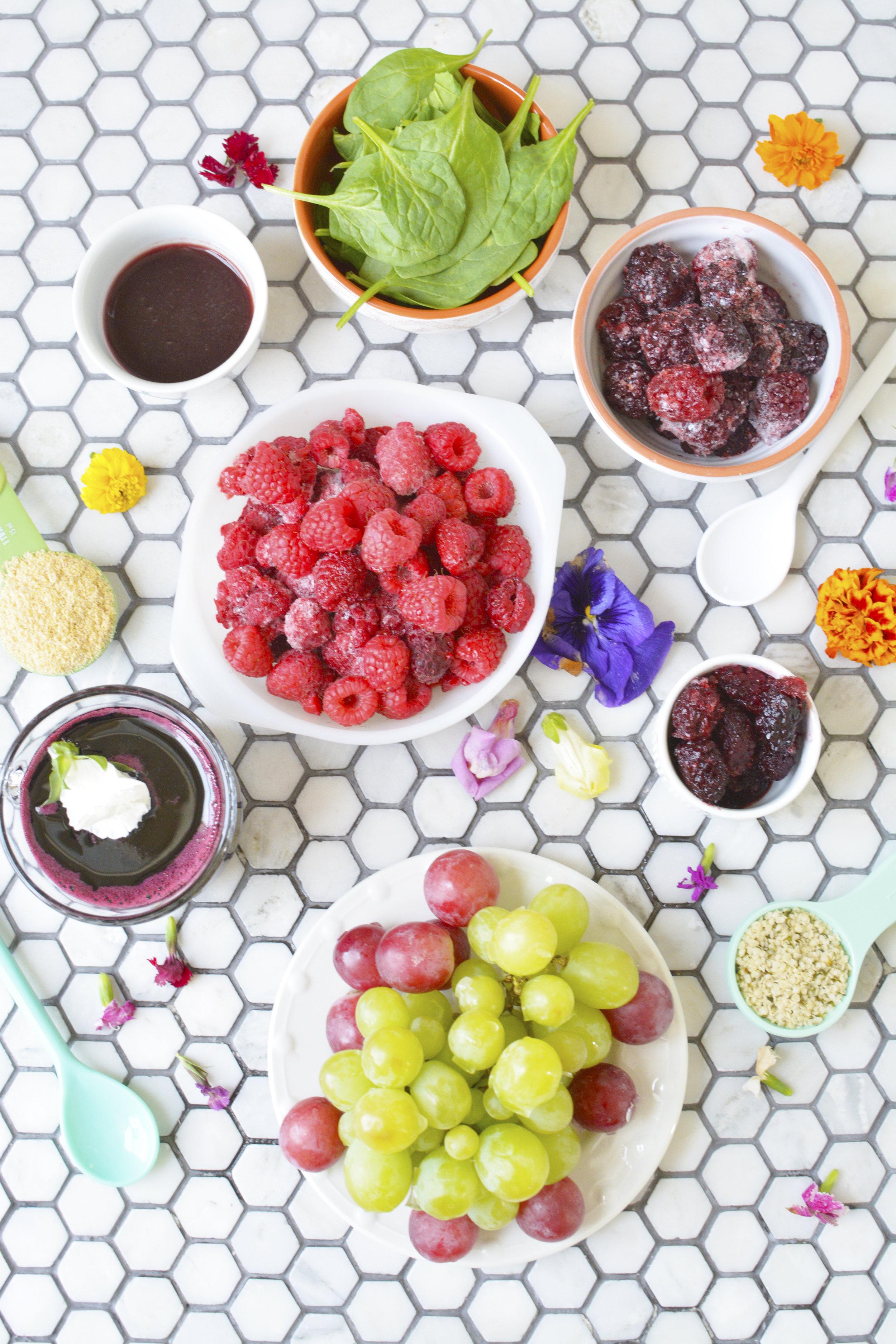 grape smoothie bowl
