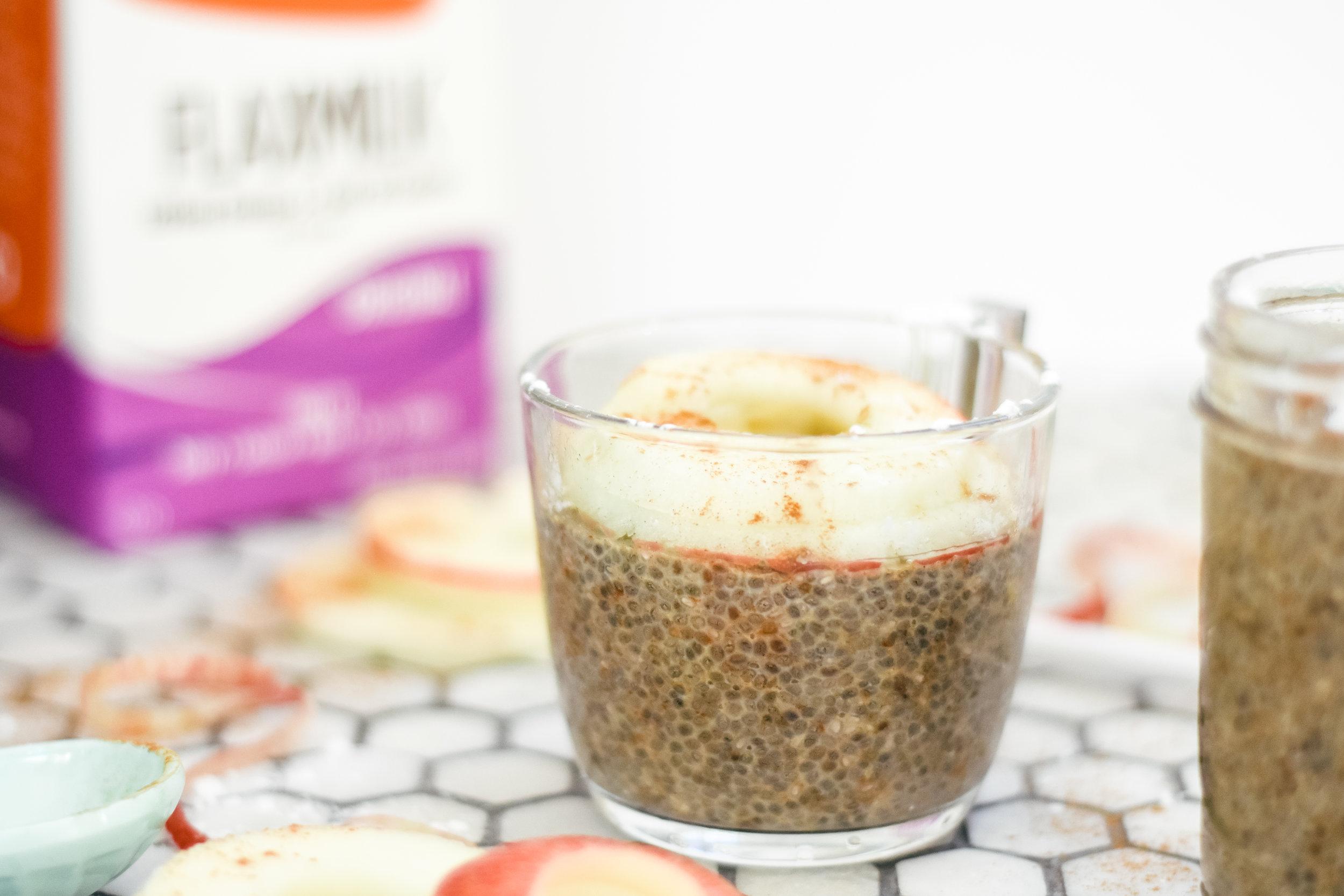 vegan chia seed pudding recipe with Good Karma Flaxmilk