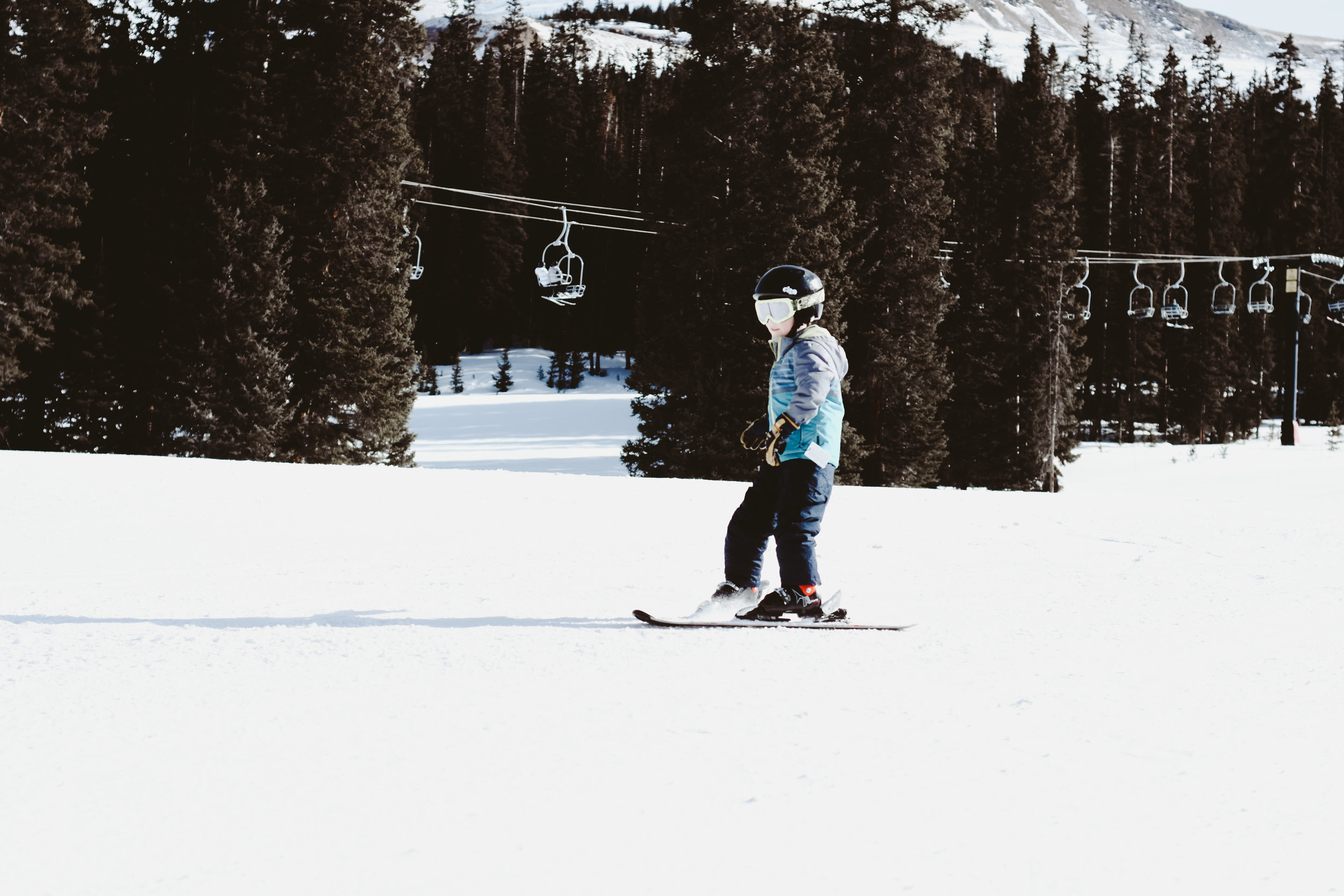 Kids skiing in Colorado at Loveland Ski Area