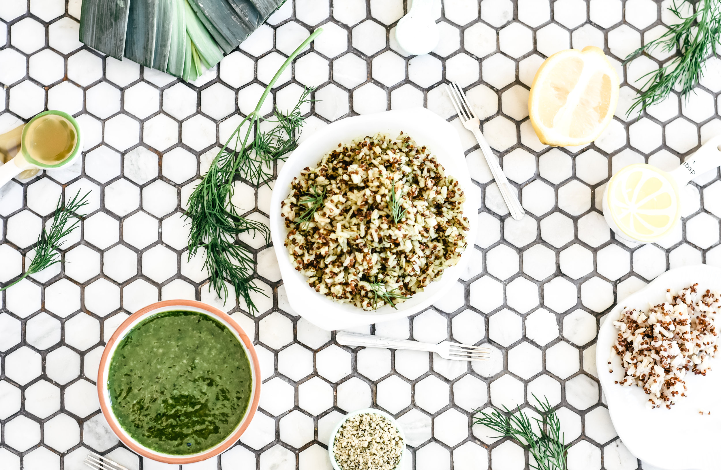 Dill sauce recipe with quinoa and path of life