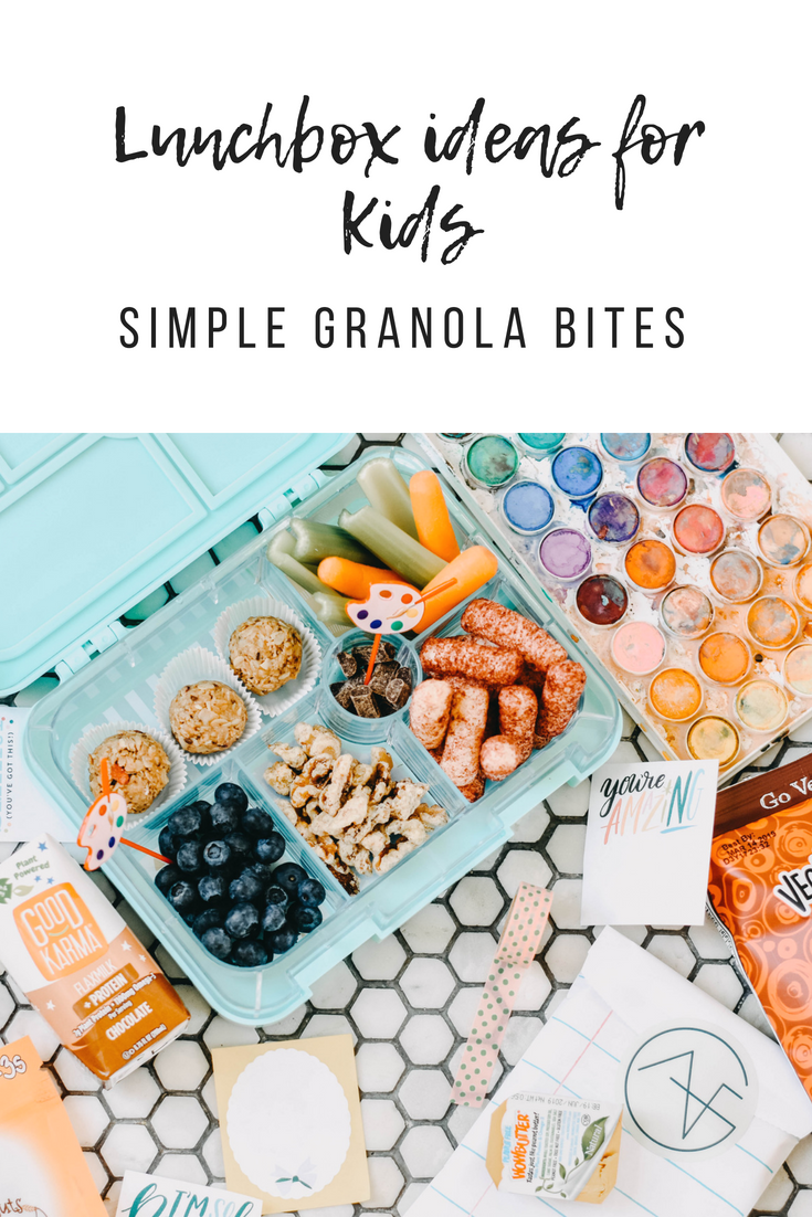 Lunchbox Ideas for Kids. Simple Granola Bites Recipe.png