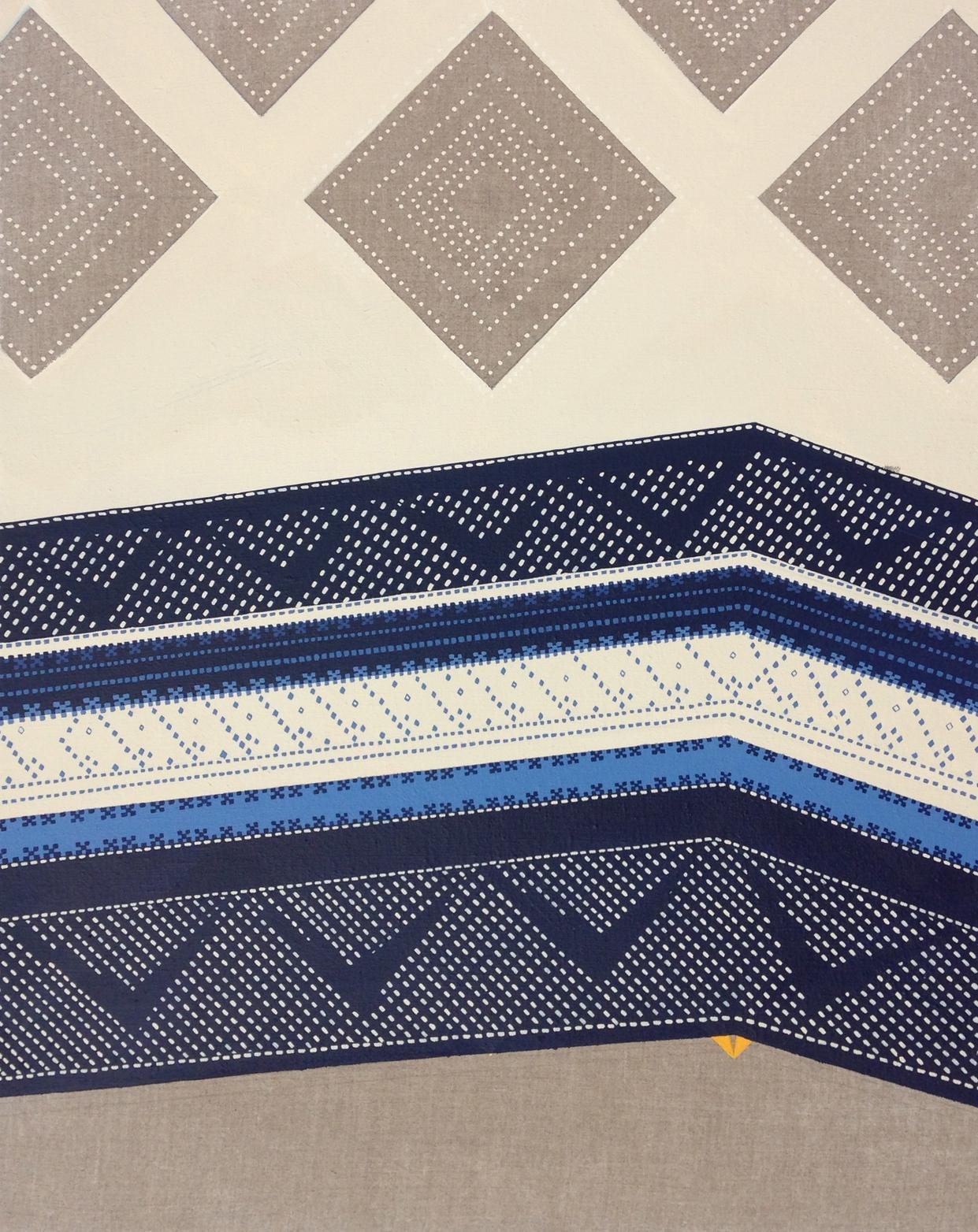 Untitled (blue stitching)