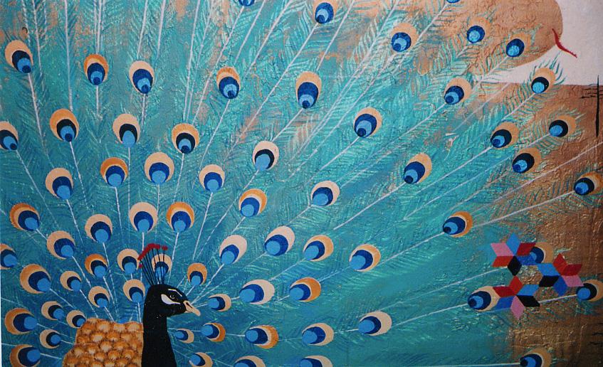 Peacock Mural (detail)