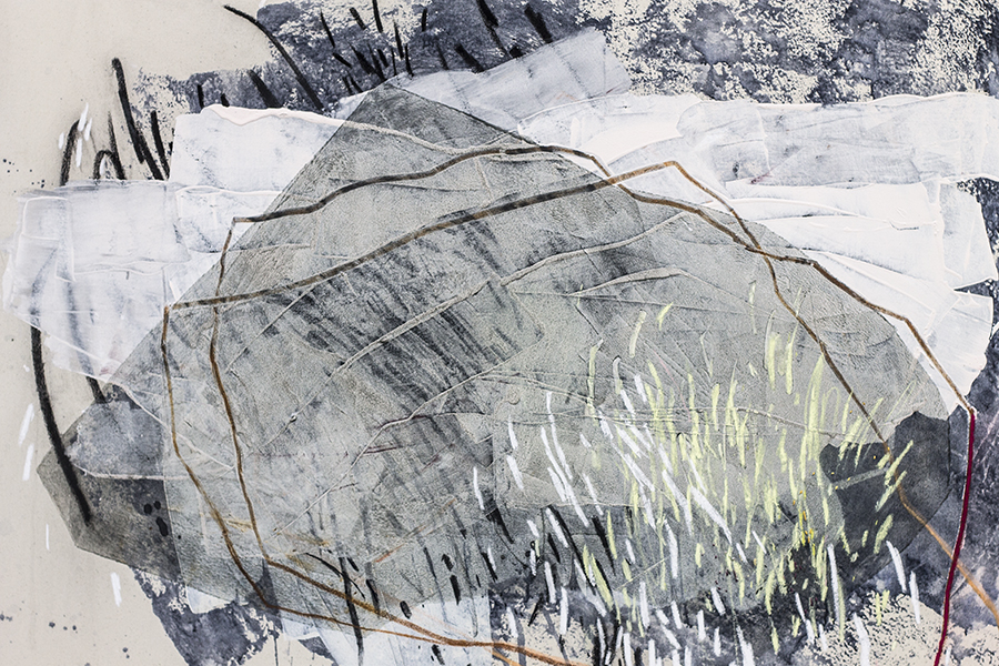 Heather Day Painting Detail : Confronted by Mountains