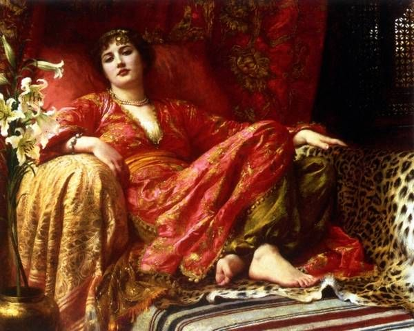 Sir Frank Dicksee(1853-1928) supposedly painted the poet Wallada.