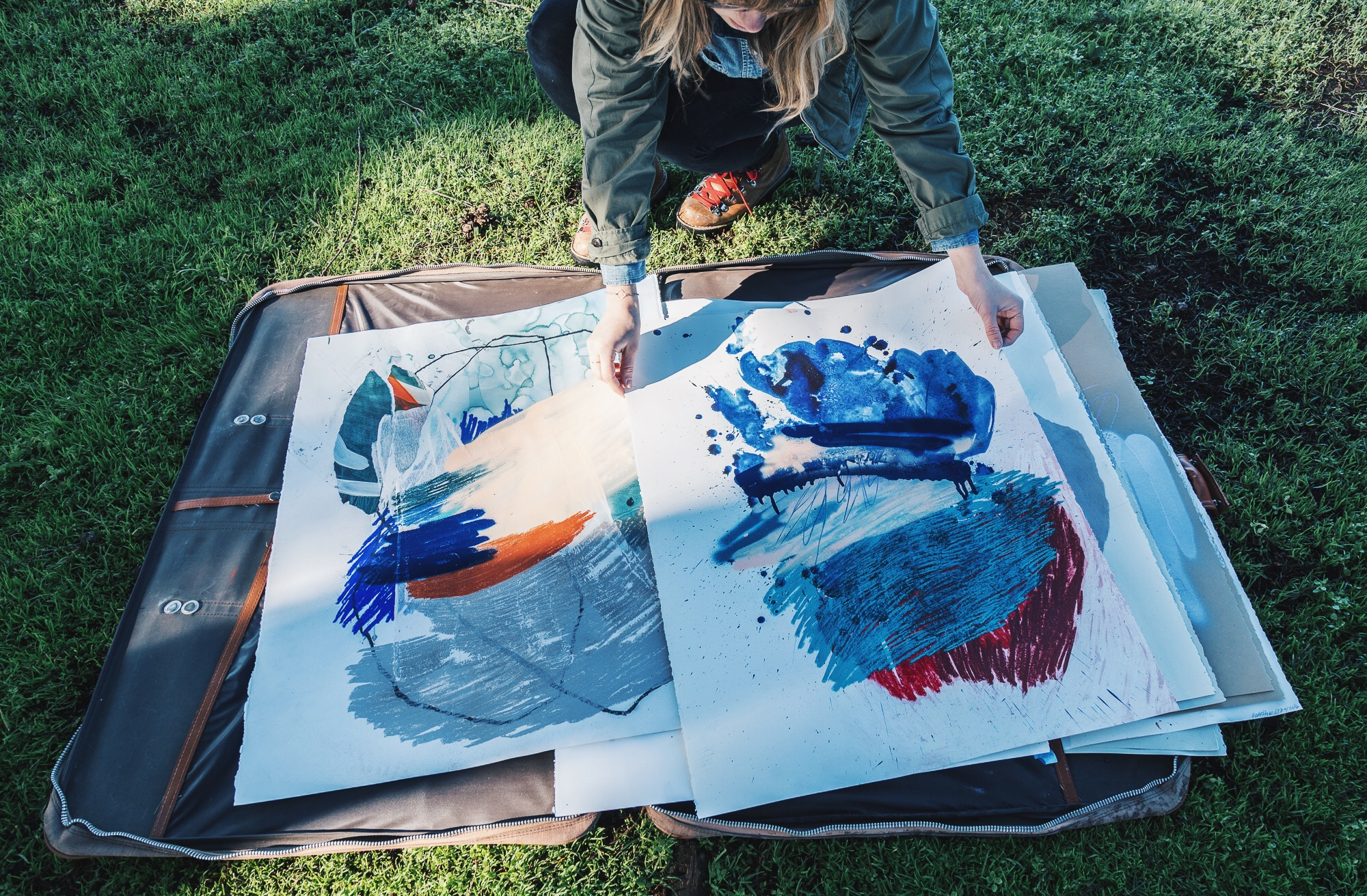 Paintings at Lands End by Heather Day | Heather Day Journal
