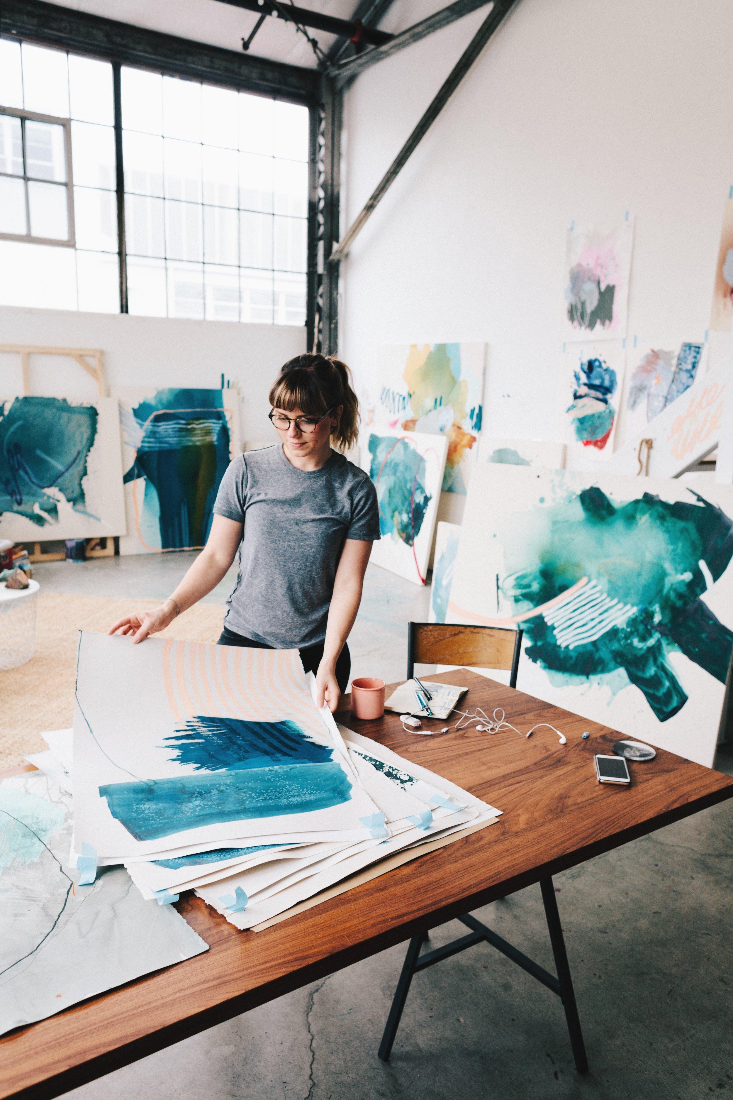 Heather Day in her San Francisco Studio