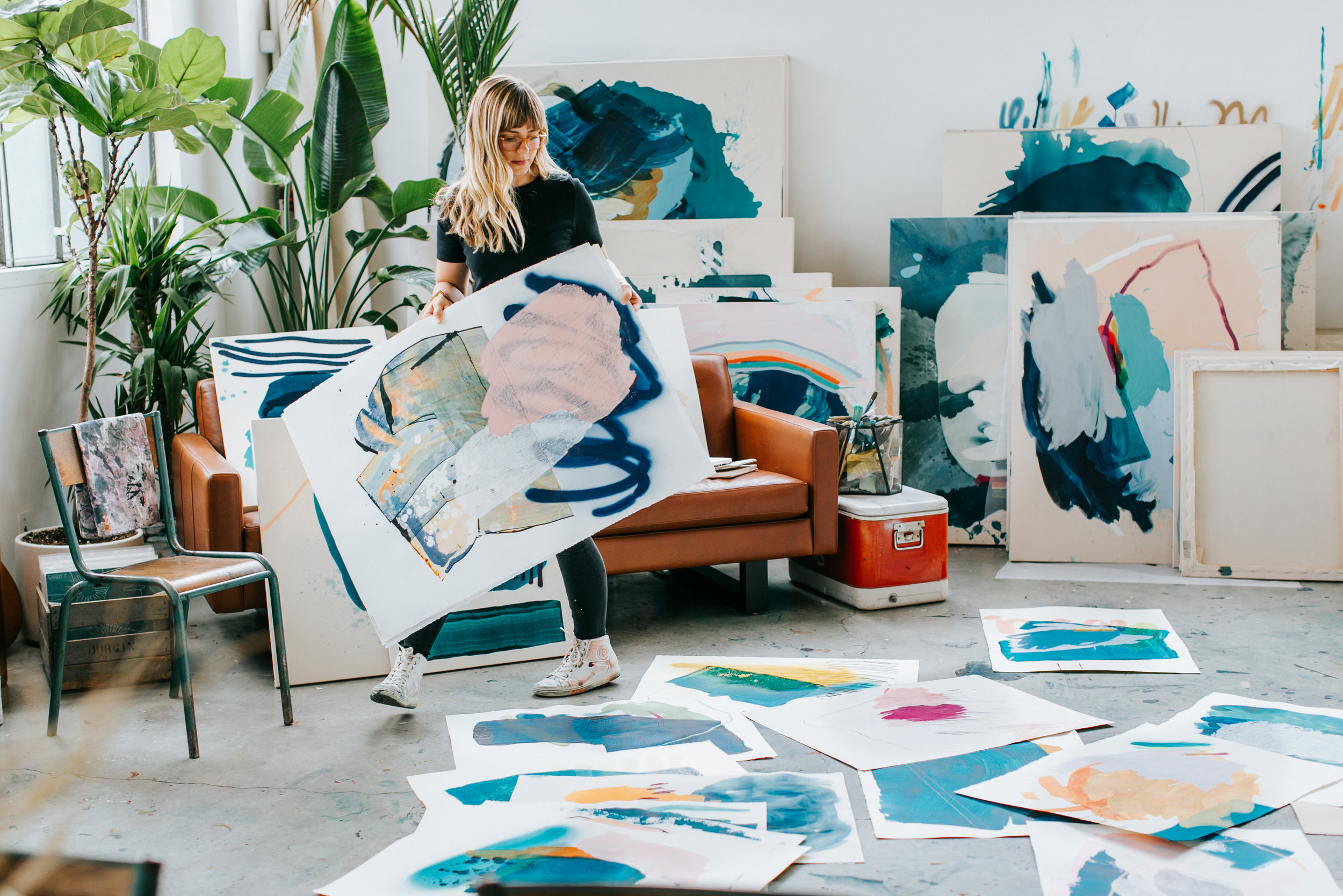 Heather Day in her San Francisco Live/Work Space