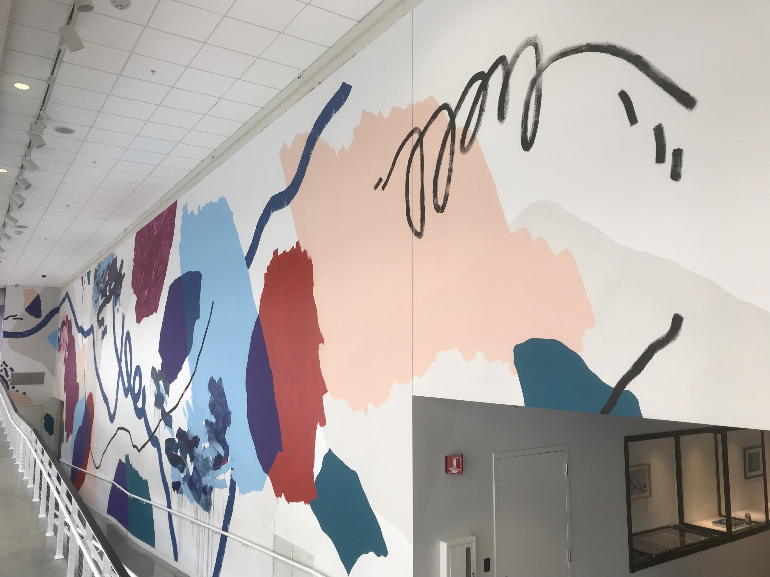 UICA's Pantone Color of the Year mural by Heather Day