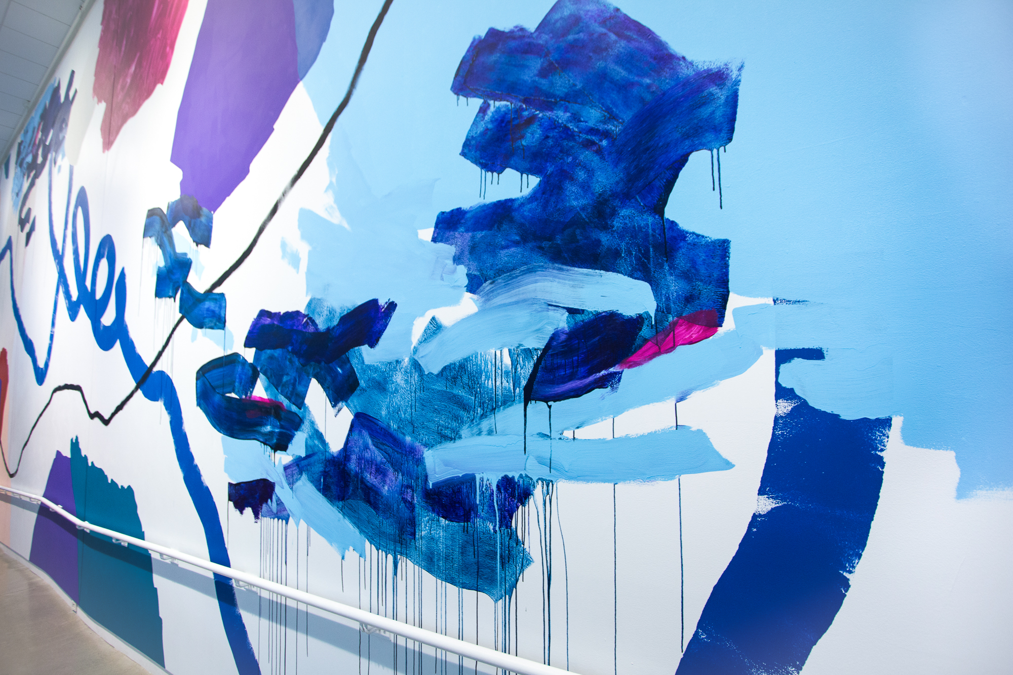 Heather Day's mural celebrating Pantone Color of the Year - Ultraviolet