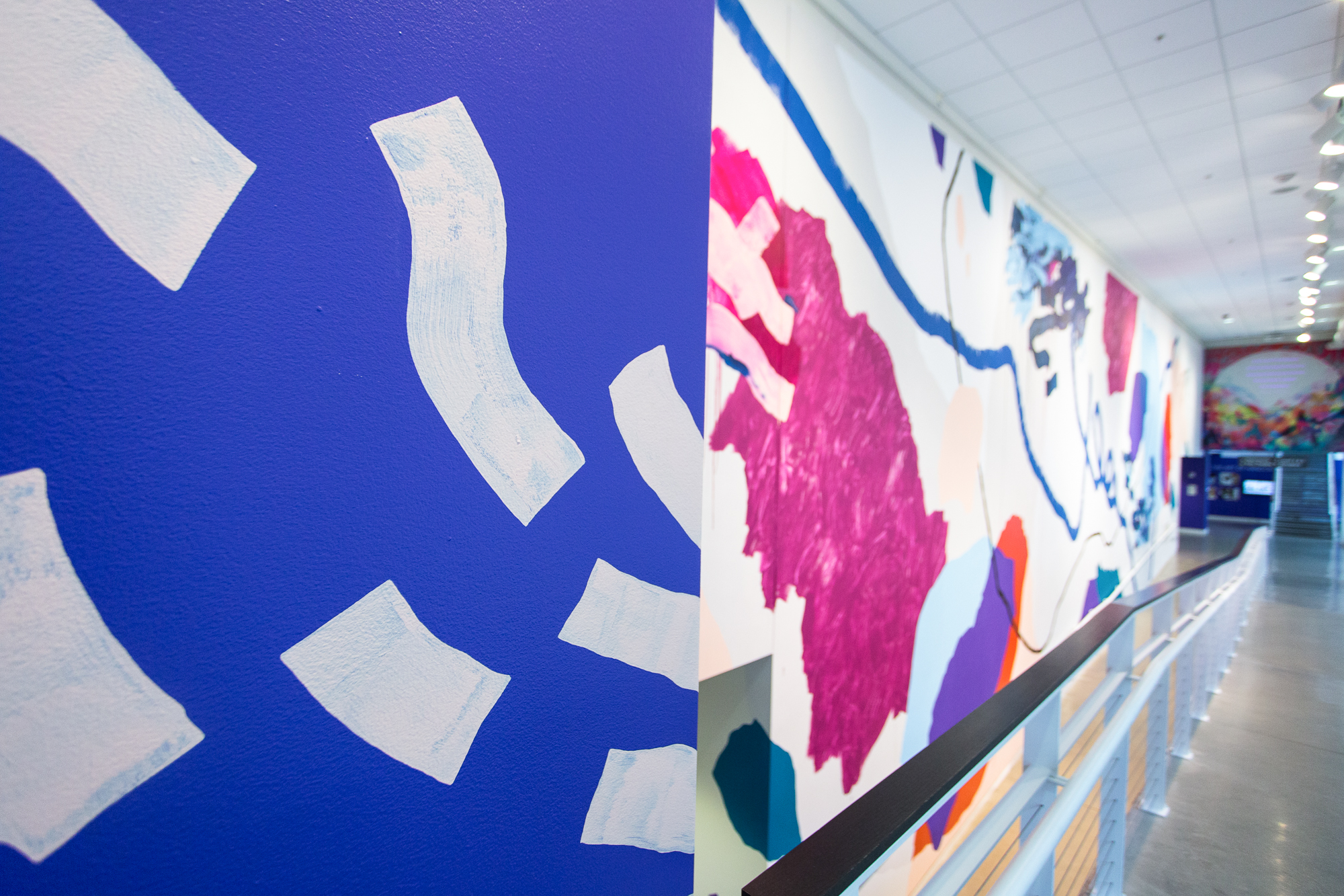 Heather Day's mural celebrating the Pantone Color of the Year - Ultraviolet at the Urban Institute of Contemporary Art
