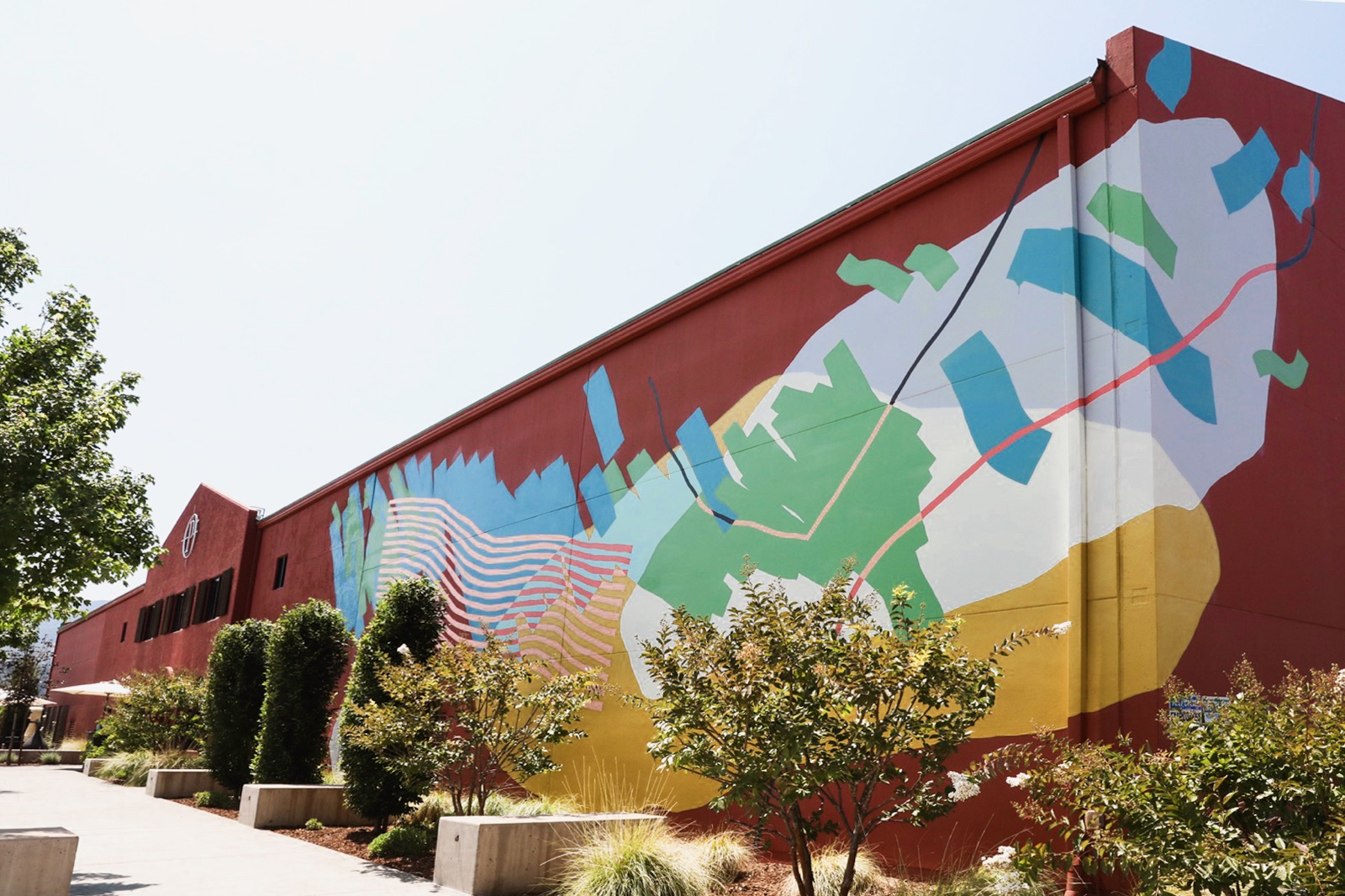 Heather Day's mural at Provenance Vineyards in Napa Valley