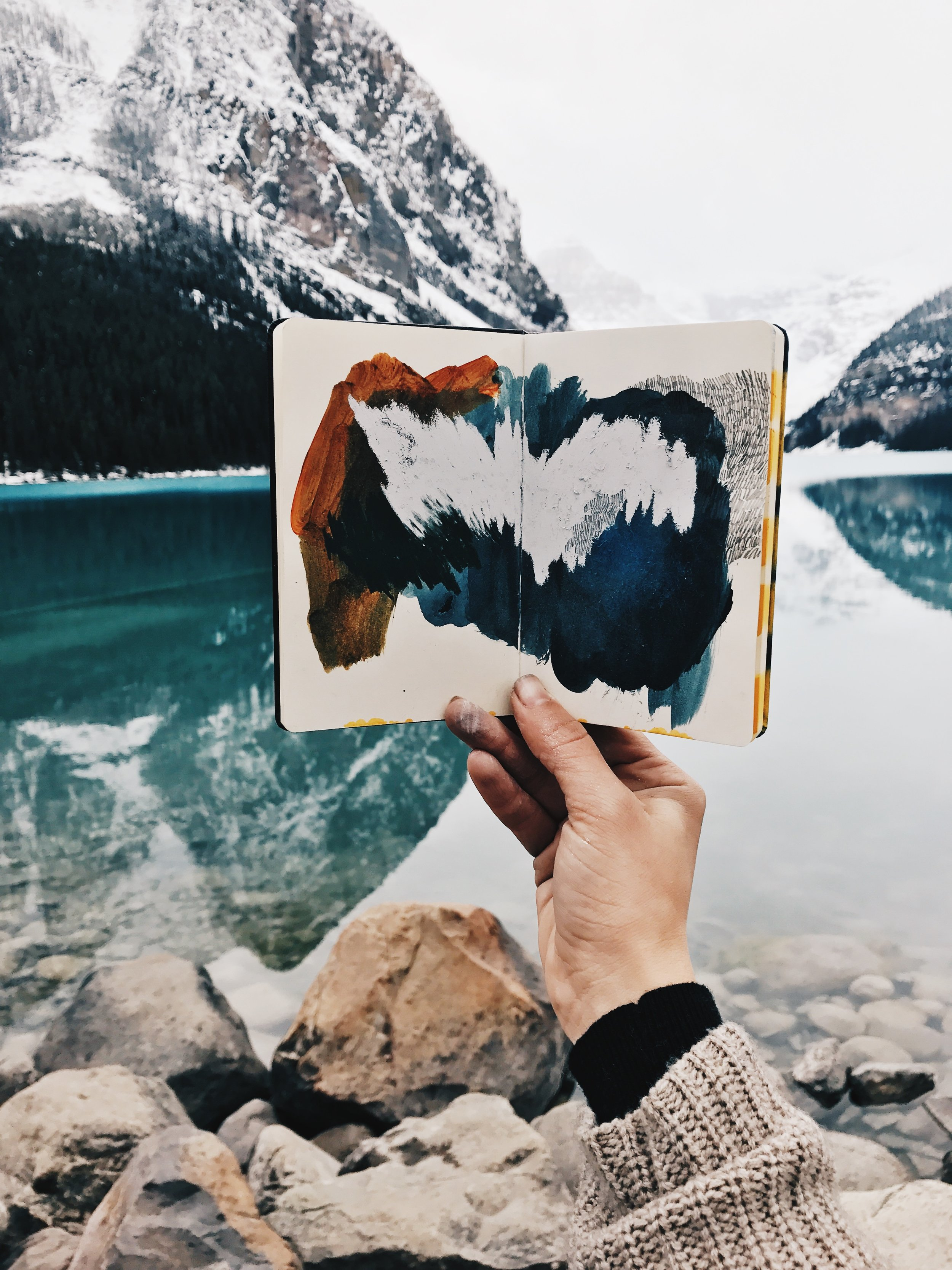 One of my sketchbooks shot at Lake Louise, Alberta, Canada.