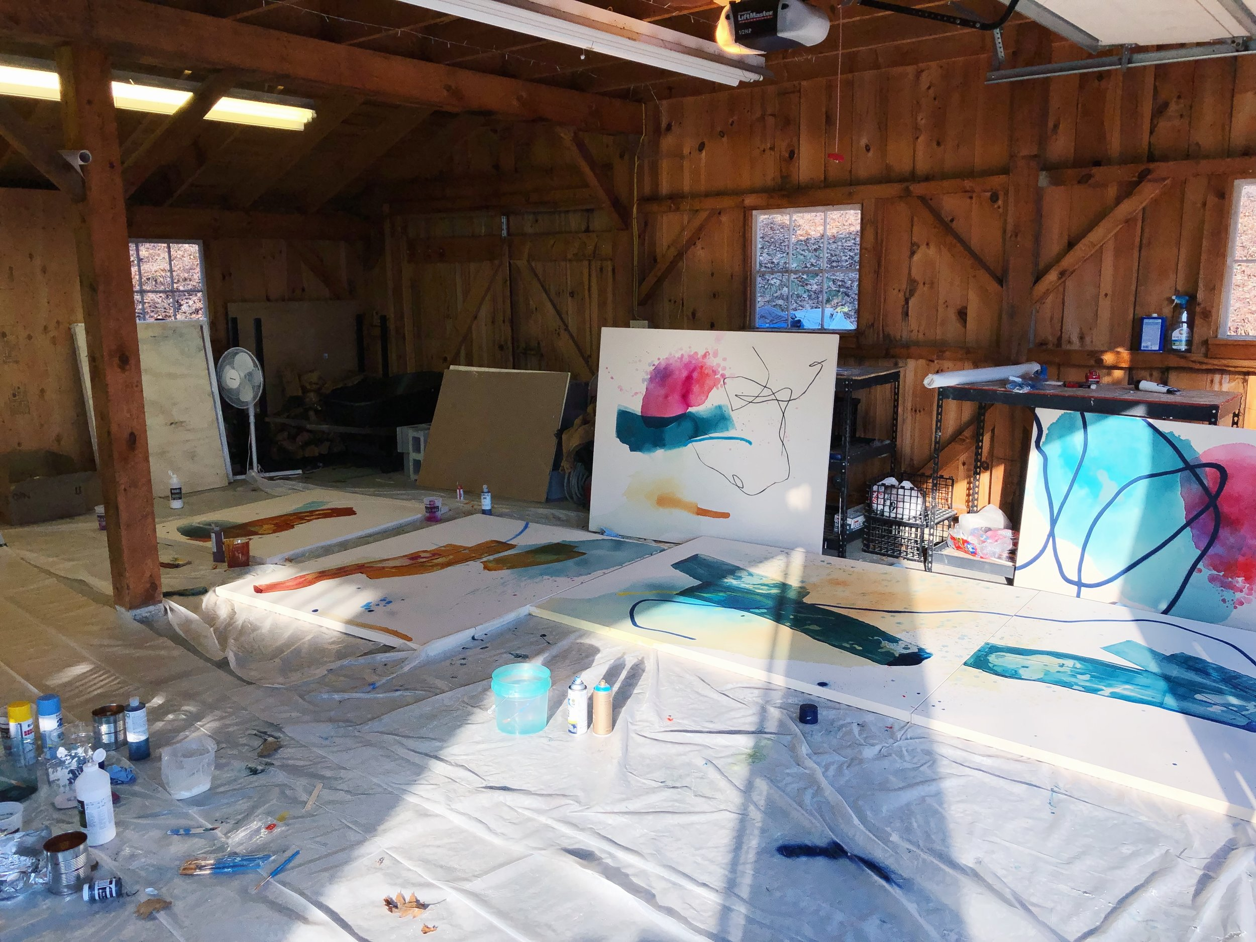 Heather Day's studio at The Macedonia Institute Artist Residency