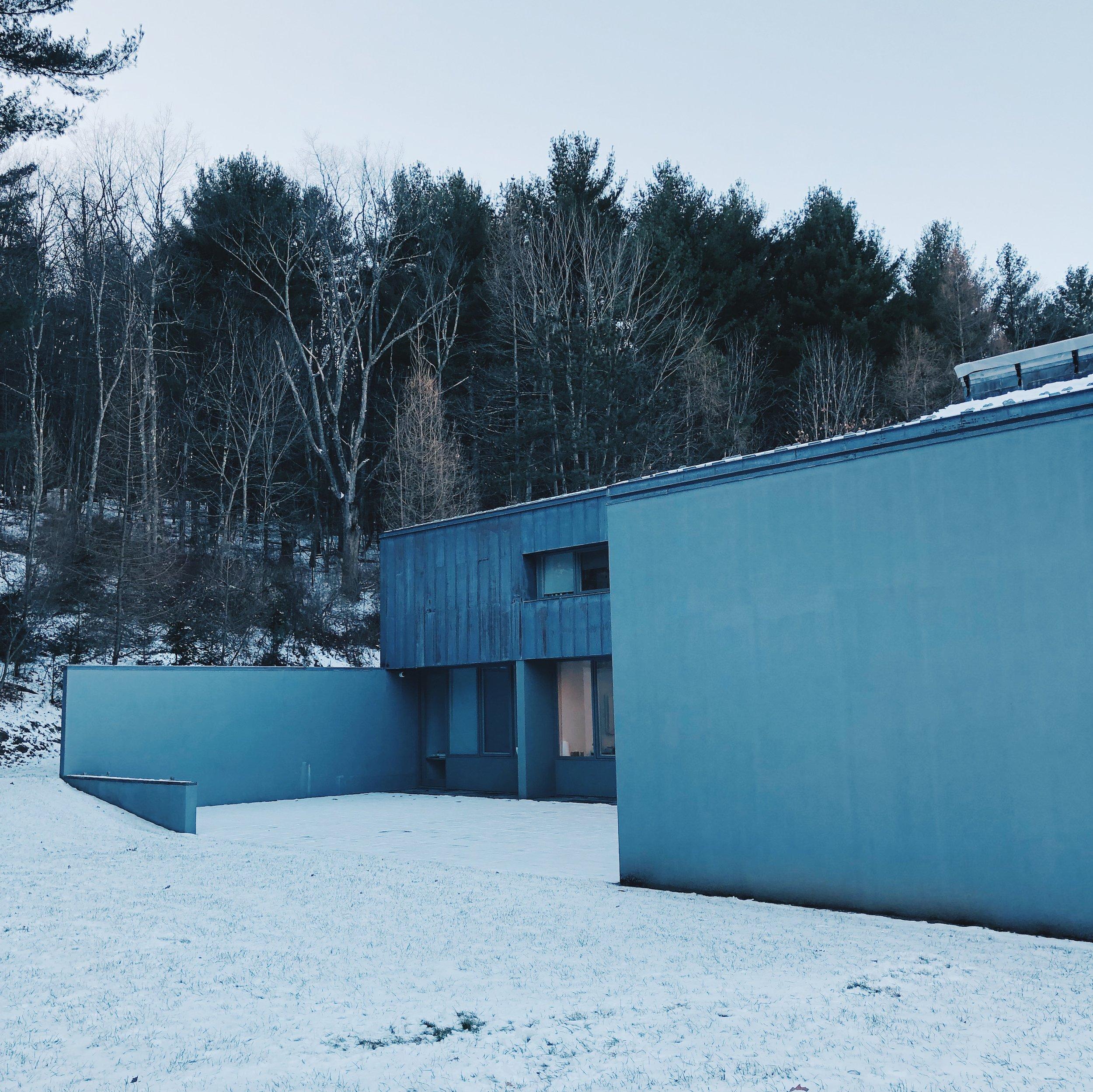 Ellsworth Kelly's studio in Spencertown, New York