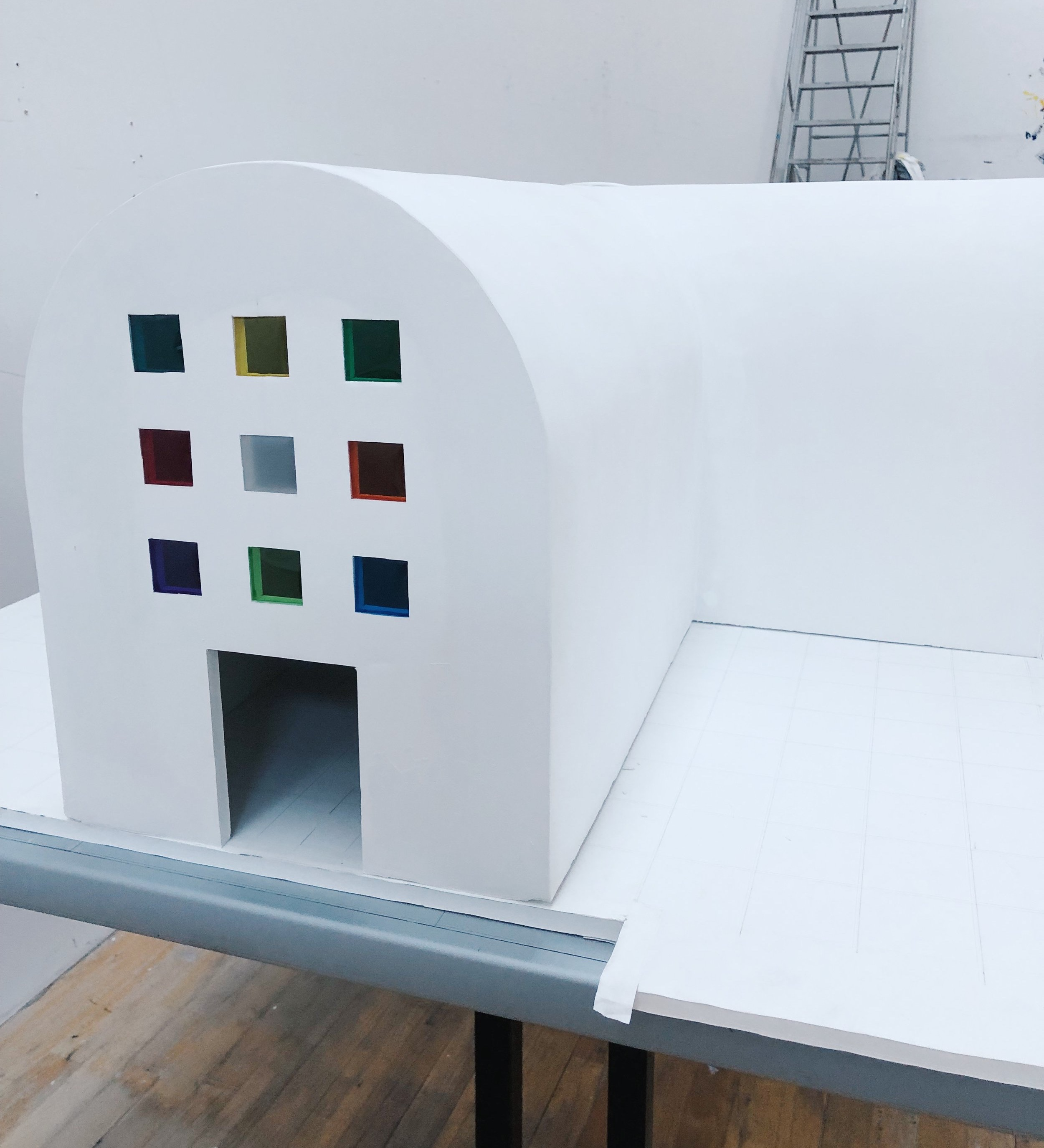 Ellsworth Kelly's  Austin , structural rendering. This work was the artist's final work and only building, which opened in February at the University of Texas's Blanton Museum of Art.