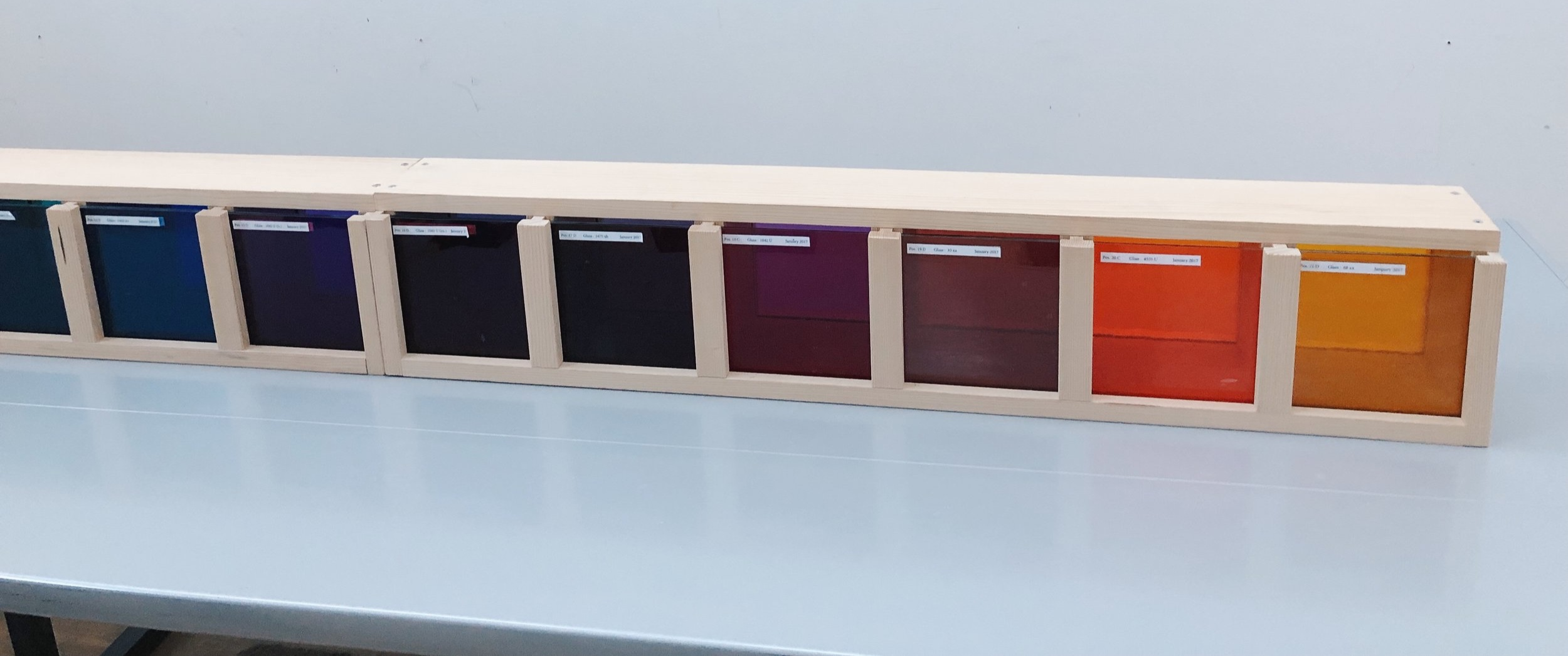 Ellsworth Kelly's color selection/ test samples for the construction of  Austin .
