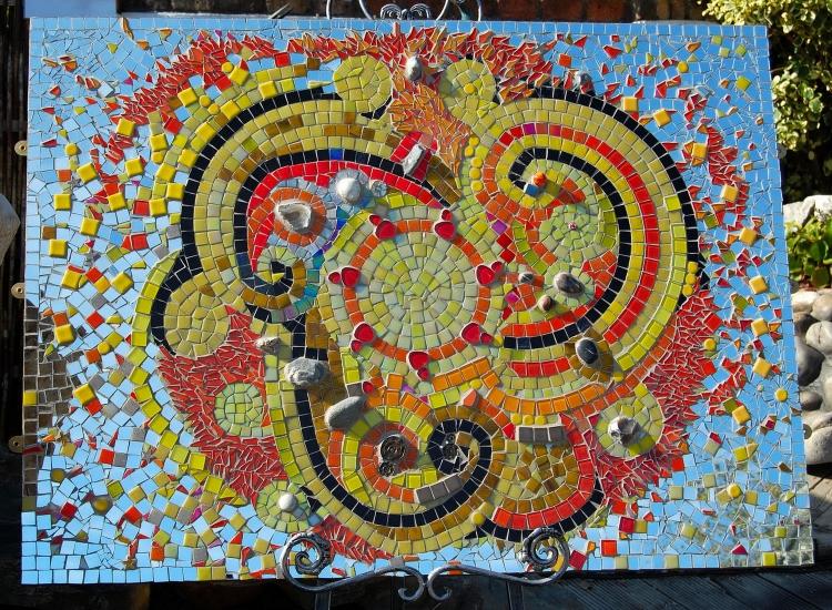 Celtic Sun mosaic by D Aston  ht 900mm x w 1200mm.JPG
