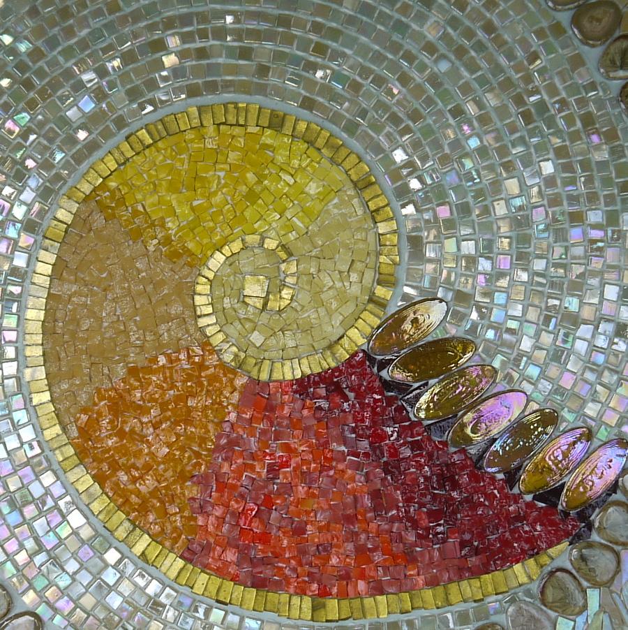 Dawn Aston. Spira Mirabilis. 2. detail of mosaic.JPG