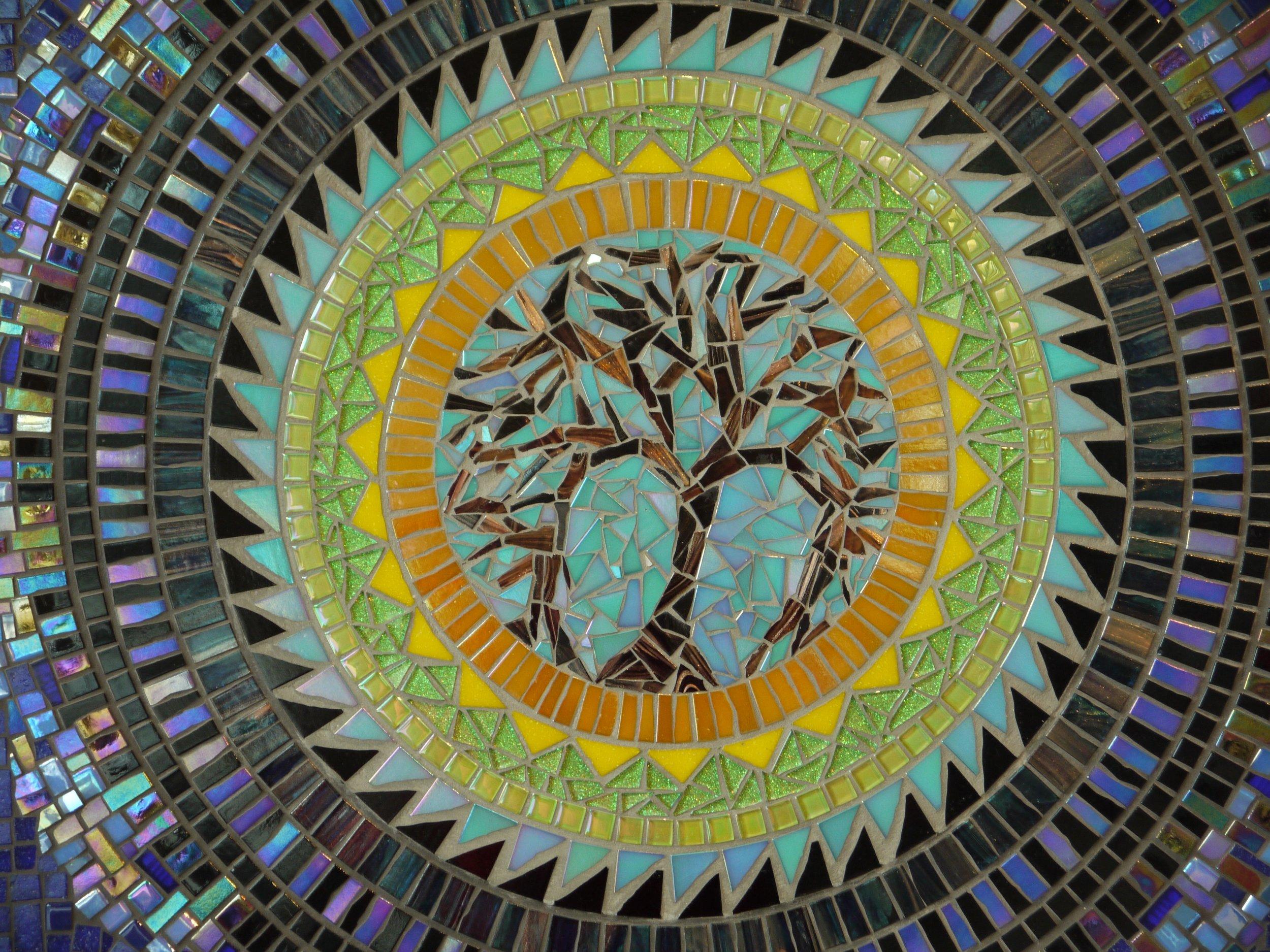 Dawn Aston. Tree of Life Mandala mosaic. 2. detail..jpg