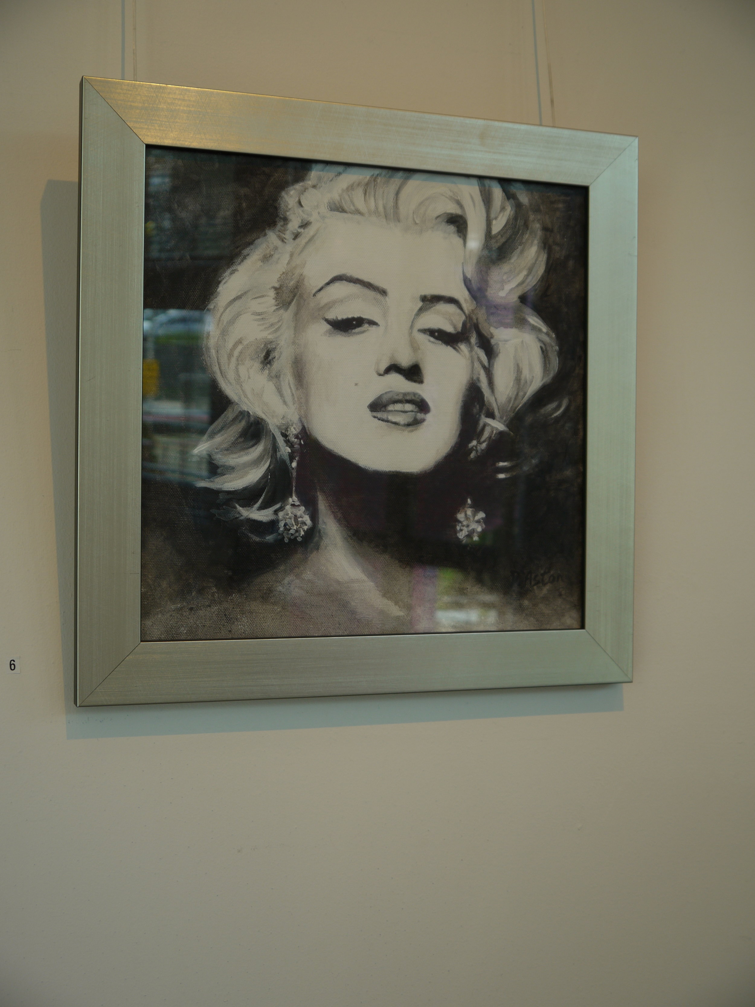 Marilyn painting in acrylic on canvas