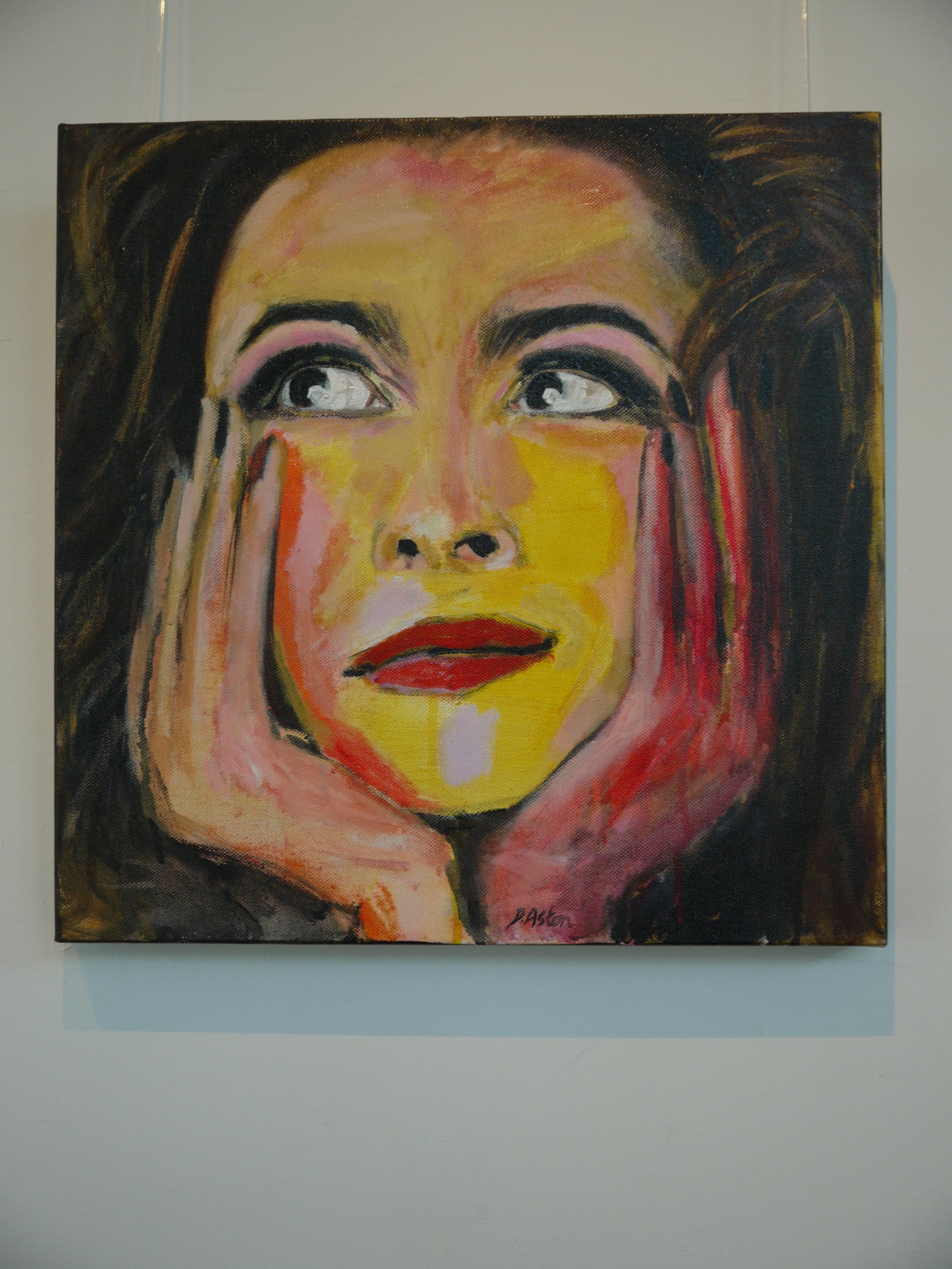 'Bellatrix' painting in acrylics