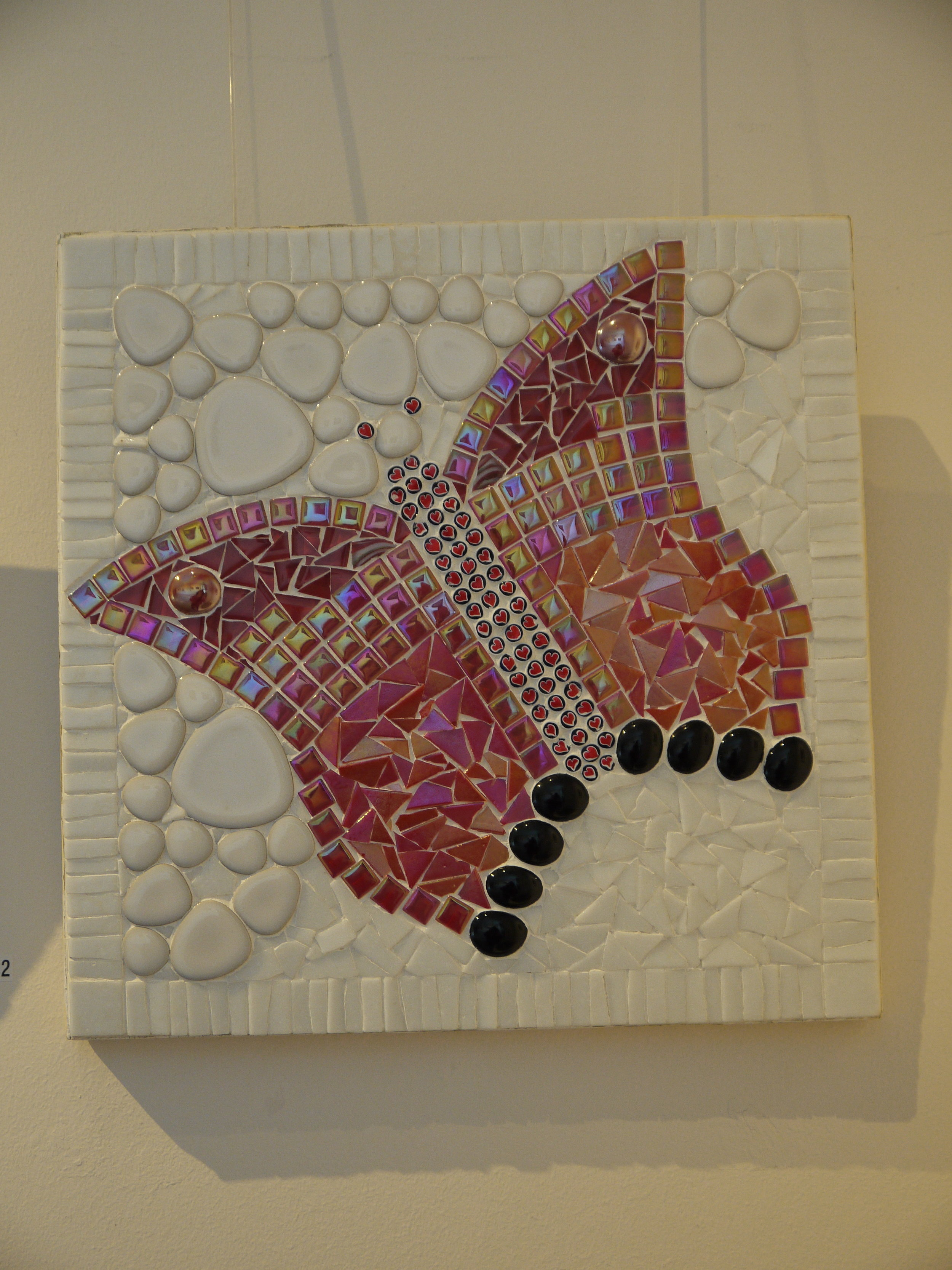 Butterfly in Red mosaic