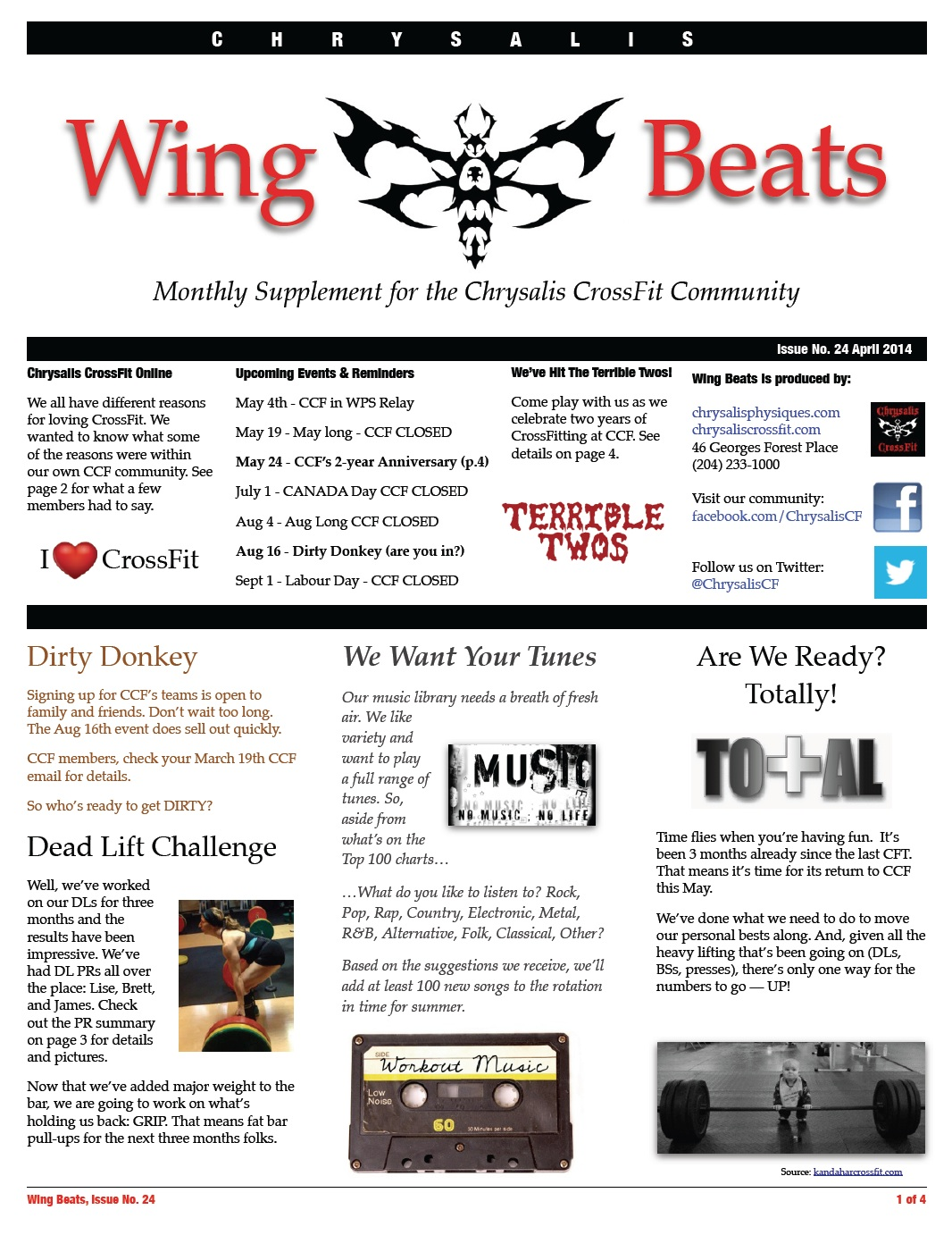 WingBeats Issue #24 - April 2014