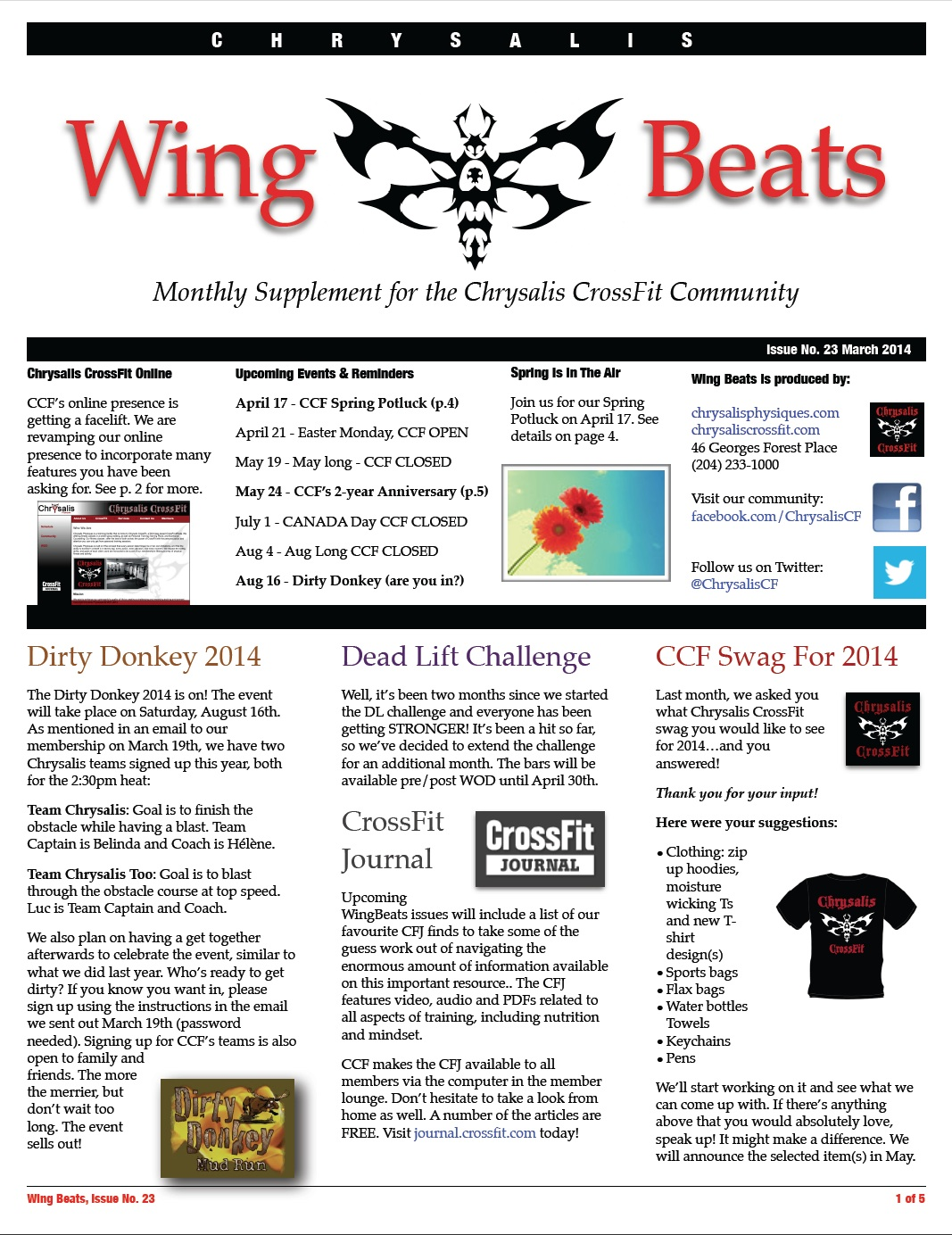 WingBeats Issue #23 - March 2014