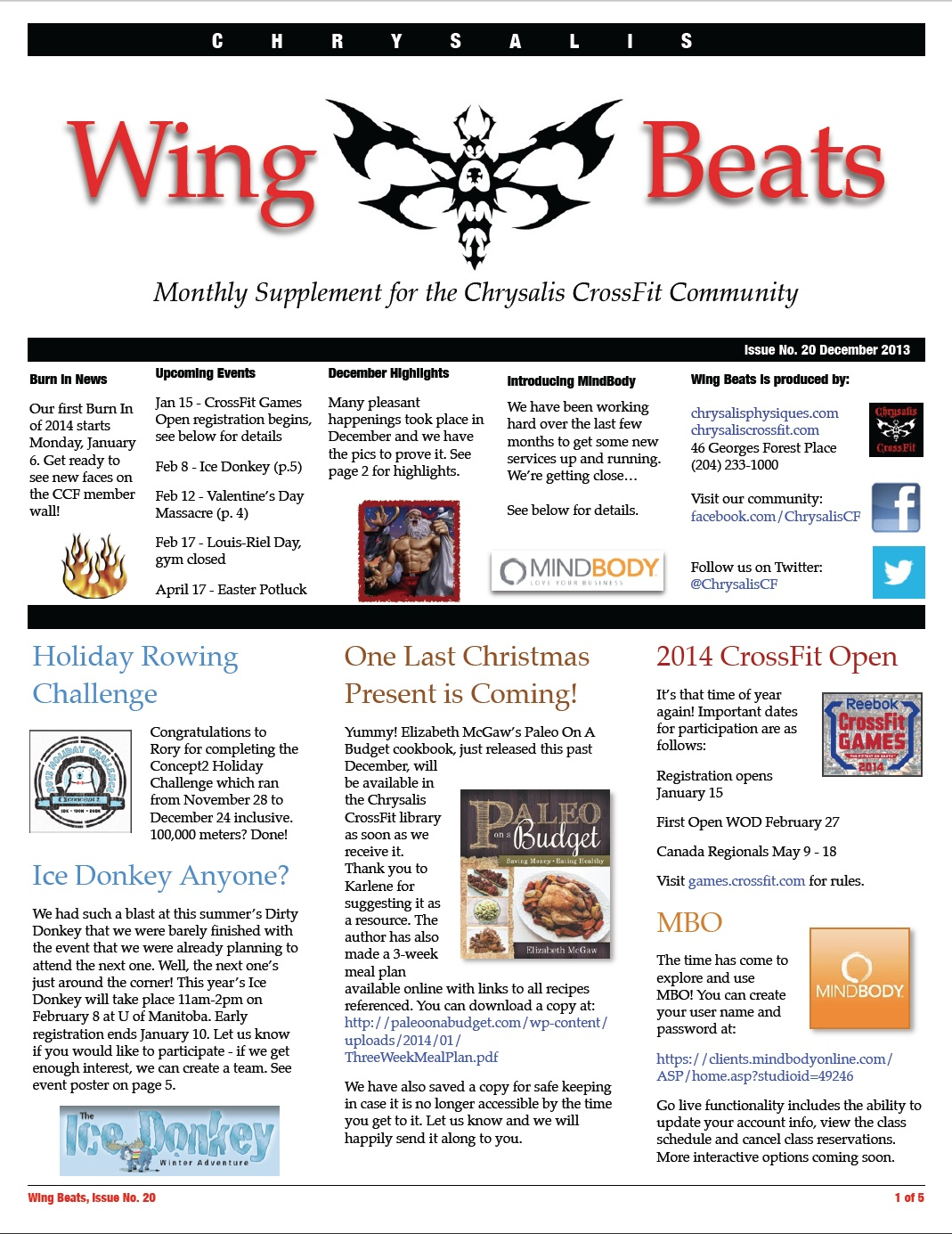 WingBeats Issue #20 - December 2013