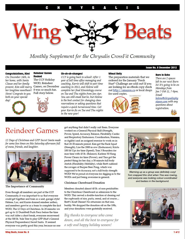 WingBeats Issue #8 - December 2012