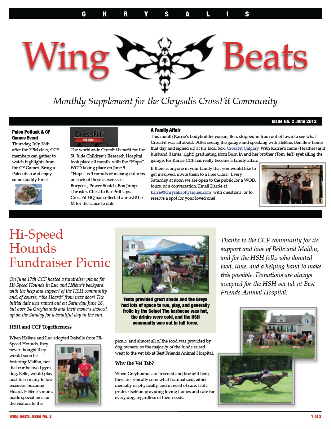 WingBeats Issue #2 - June 2012