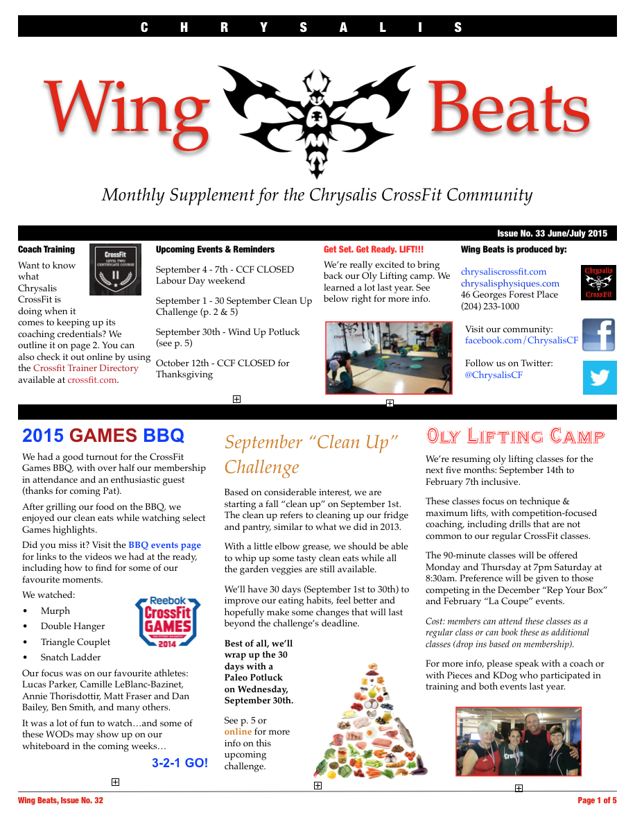 WingBeats Issue #33 - JunJul 2015